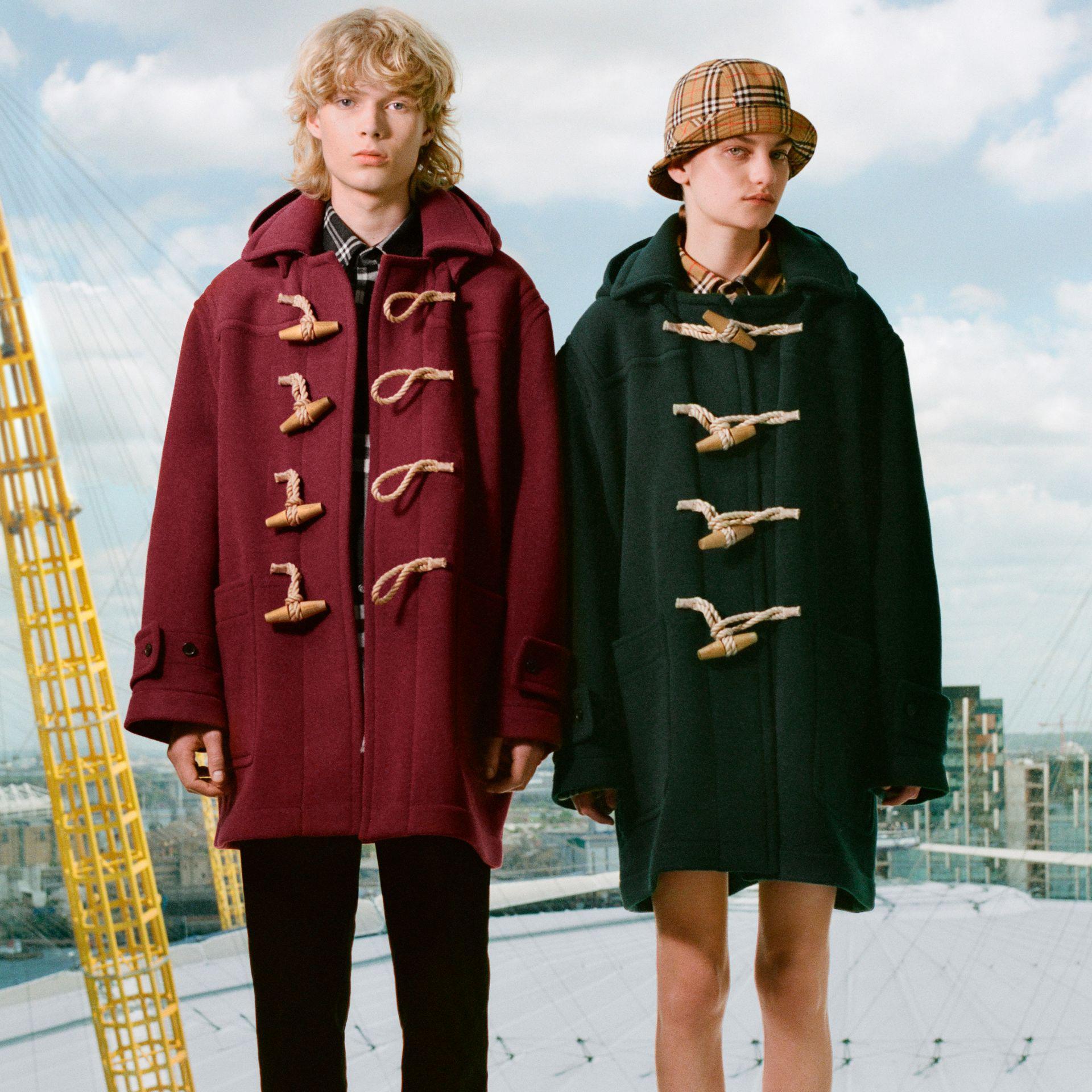 Men's Red Gosha X Oversized Duffle Coat