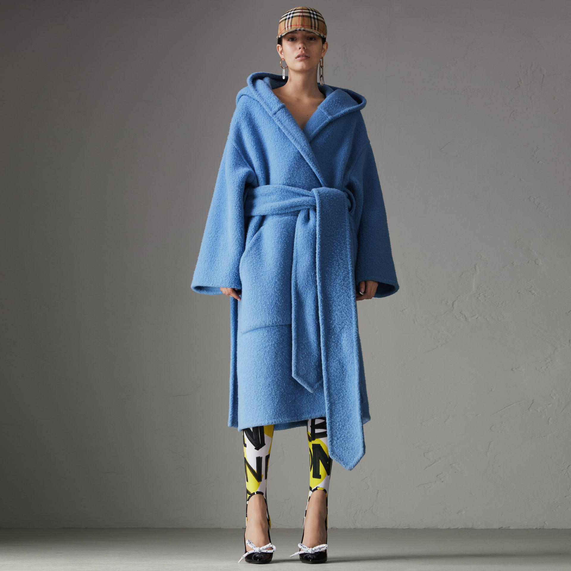 63f4c33471 Lyst - Burberry Alpaca Wool Blend Dressing Gown Coat in Blue