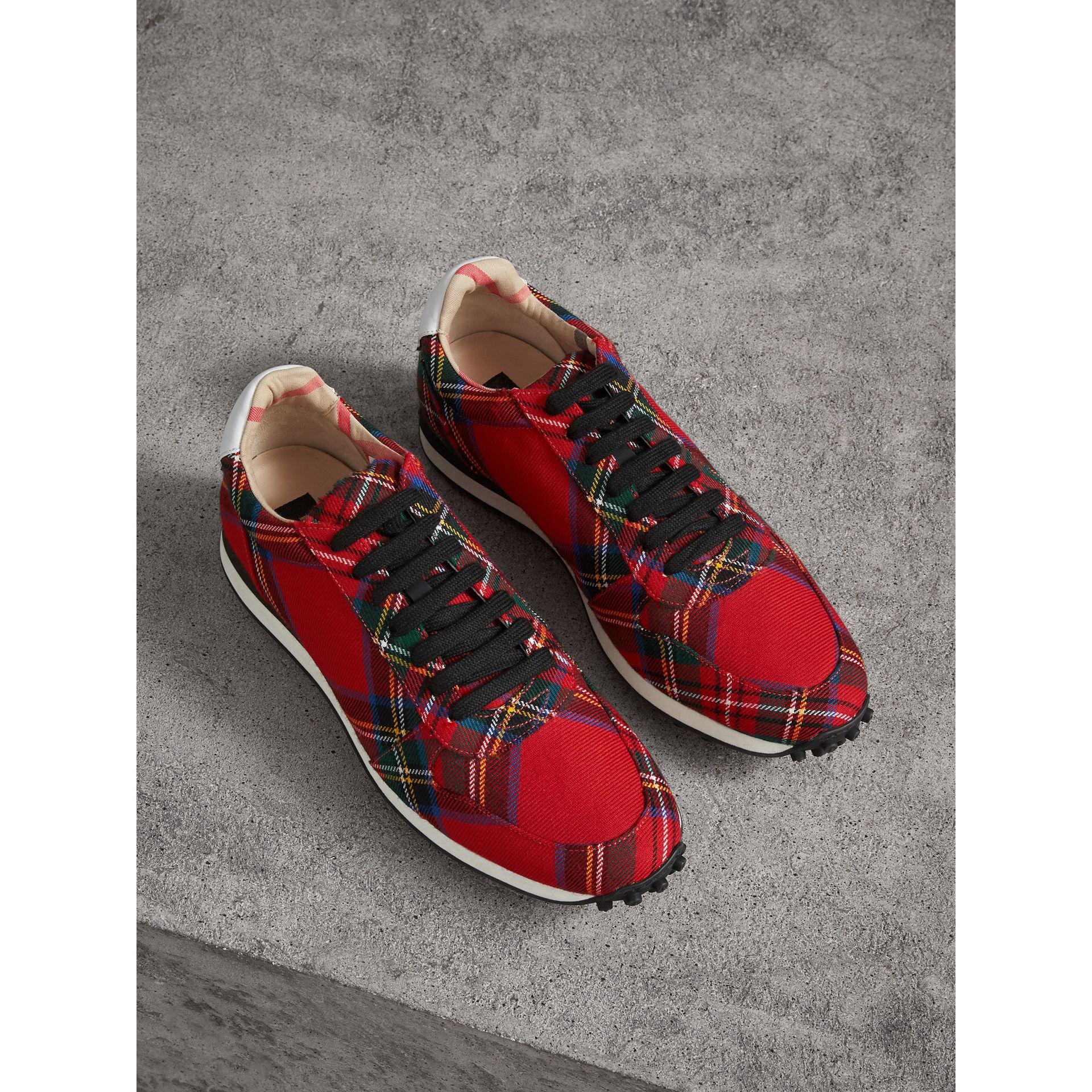 Largest Supplier Limited Edition Online Burberry Amelia tartan wool sneakers Cheap Prices Reliable Shop For For Sale From China Online lFGJnkMDq