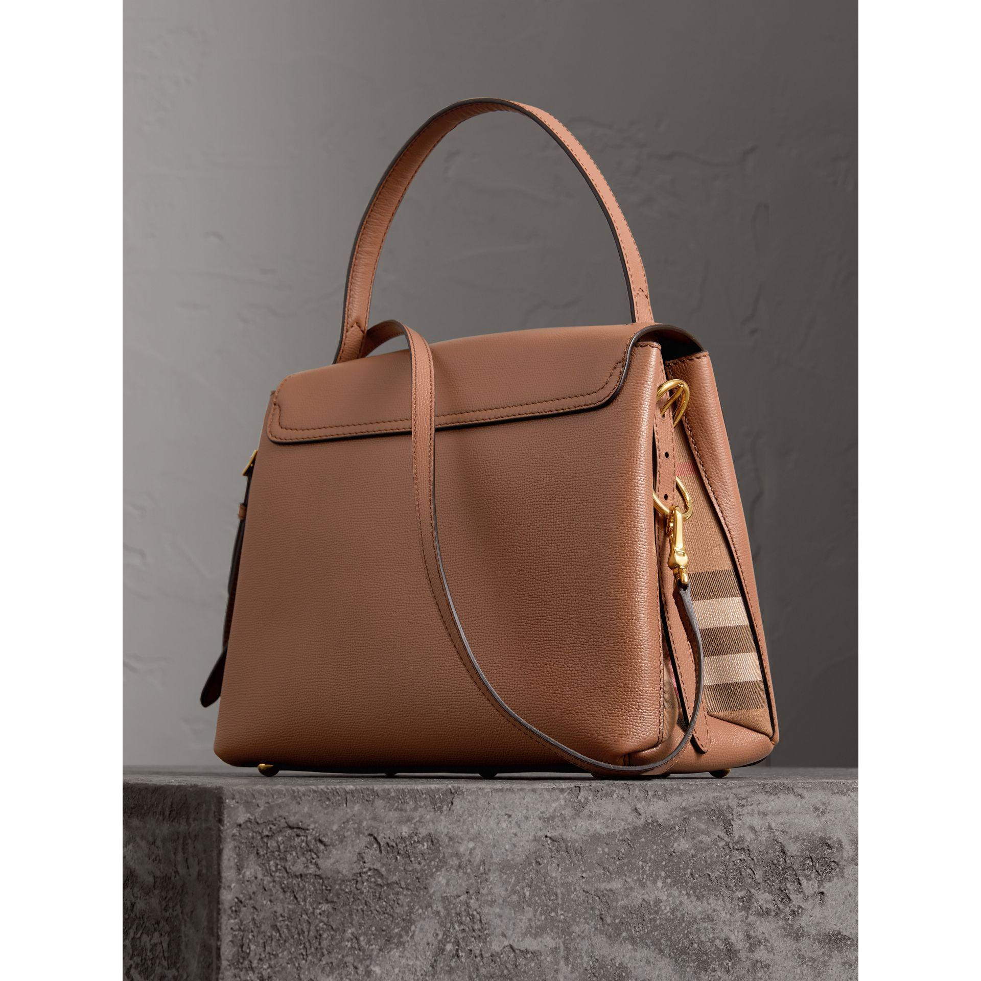 7d8a30c737c3 Burberry Small Grainy Leather And House Check Tote Bag