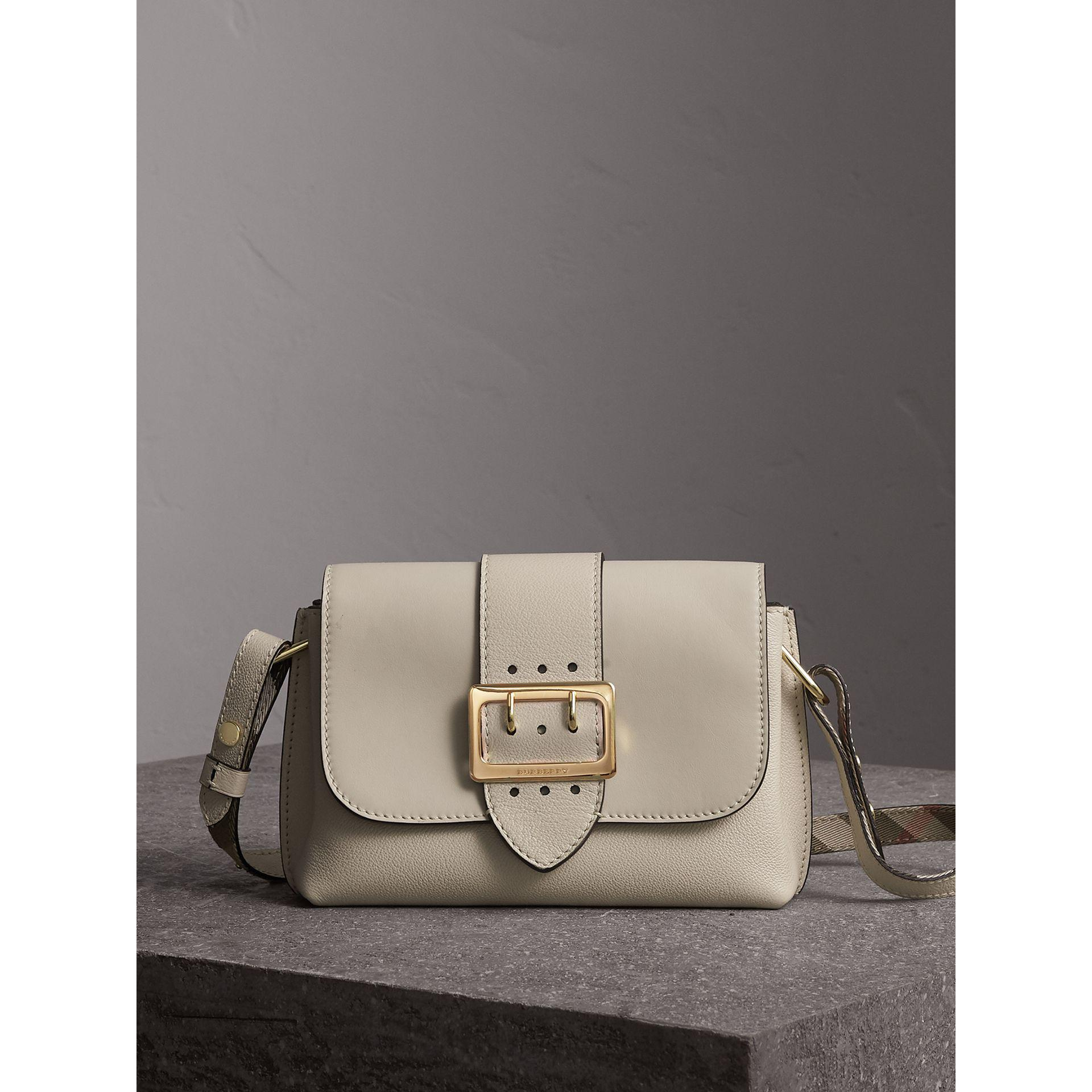 f12f3b4591eb Lyst - Burberry The Buckle Crossbody Bag In Leather Limestone