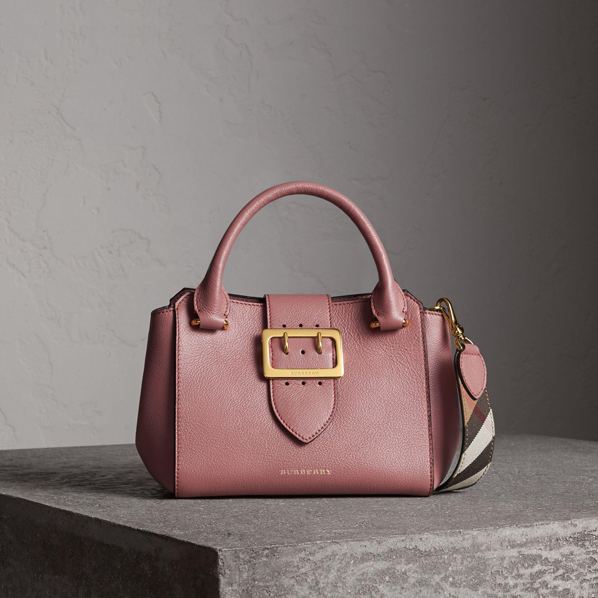 7f2a92878718 Burberry The Small Buckle Tote In Grainy Leather Dusty Pink in Pink ...