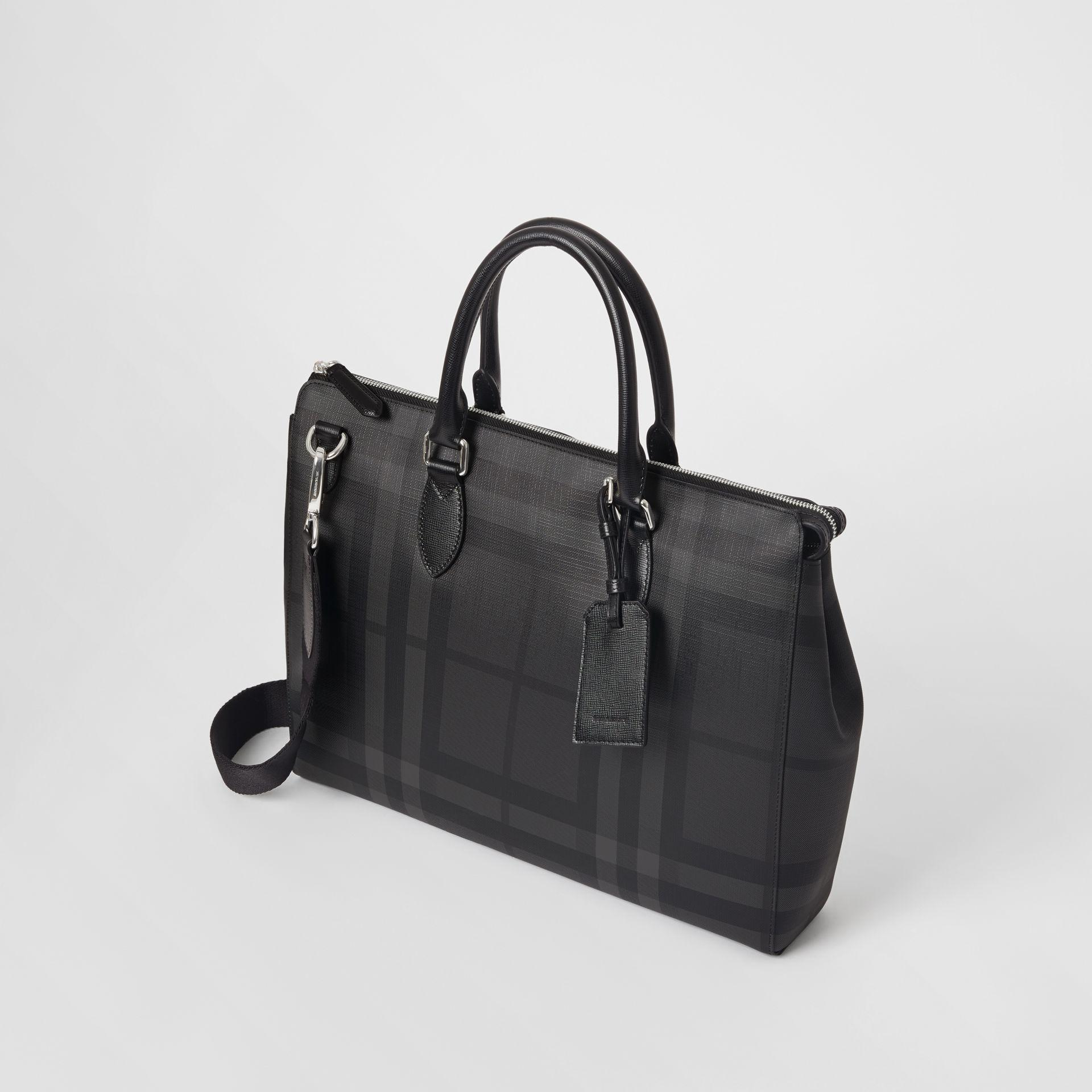 Burberry Large London Check Briefcase in Black for Men - Lyst 57ec28dbf3a24