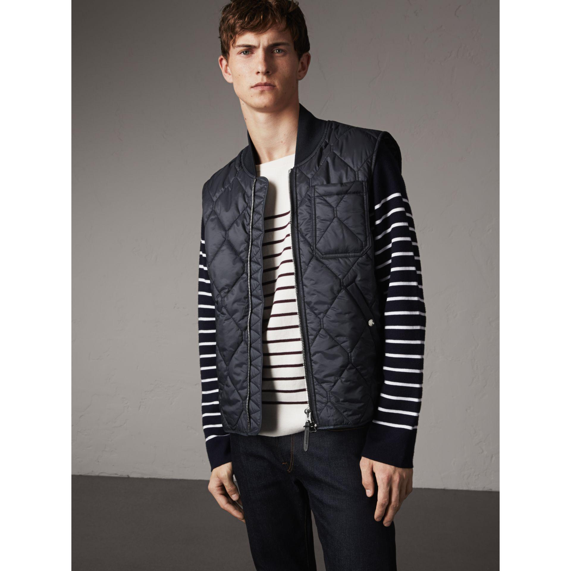 Lyst Burberry Diamond Quilted Gilet In Navy In Blue For Men
