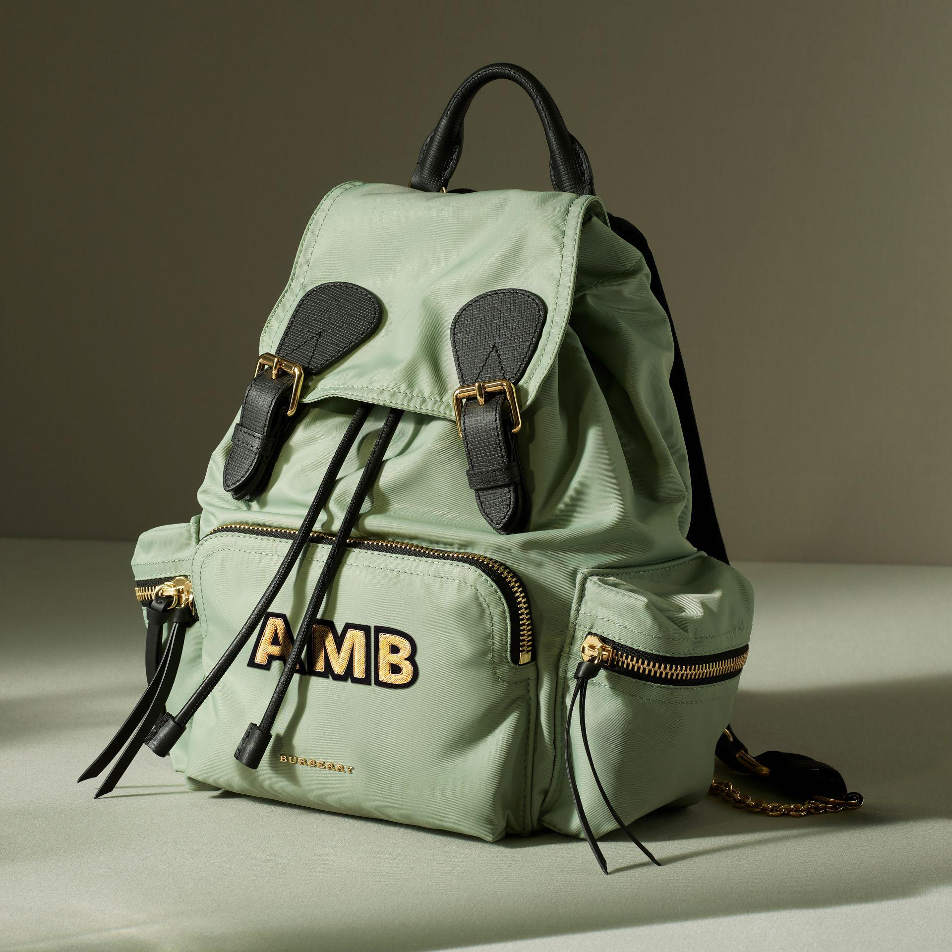 Lyst - Burberry The Medium Rucksack In Technical Nylon And Leather ... 5d04ec73b8ef1