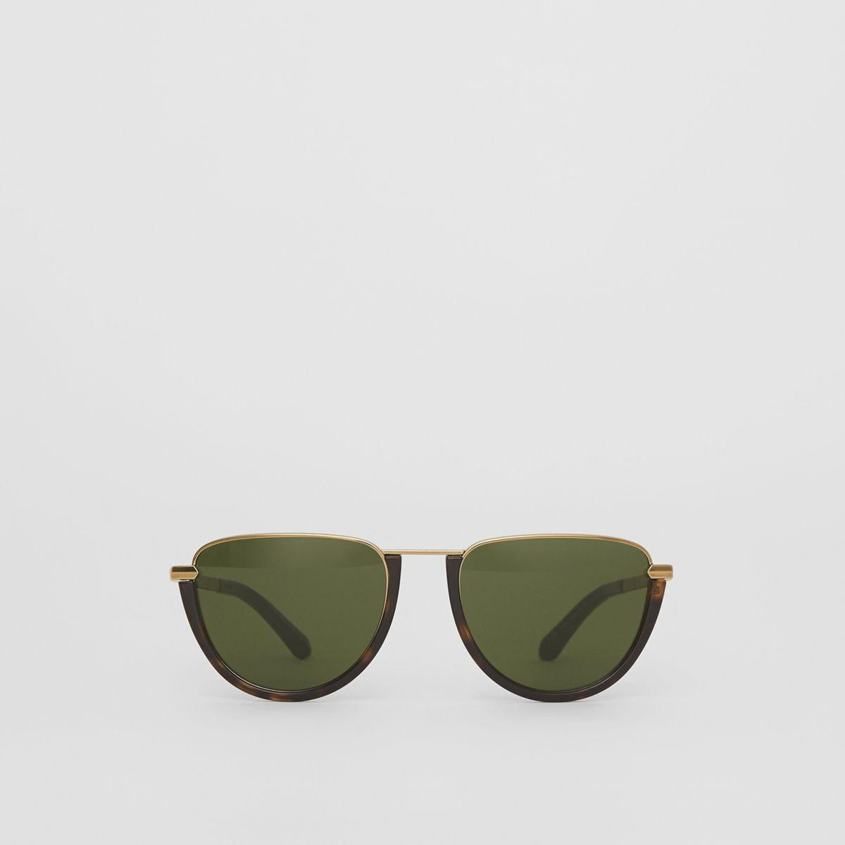 2bc453ac70 Burberry - Multicolor Half Moon Pilot Round Frame Sunglasses - Lyst. View  fullscreen