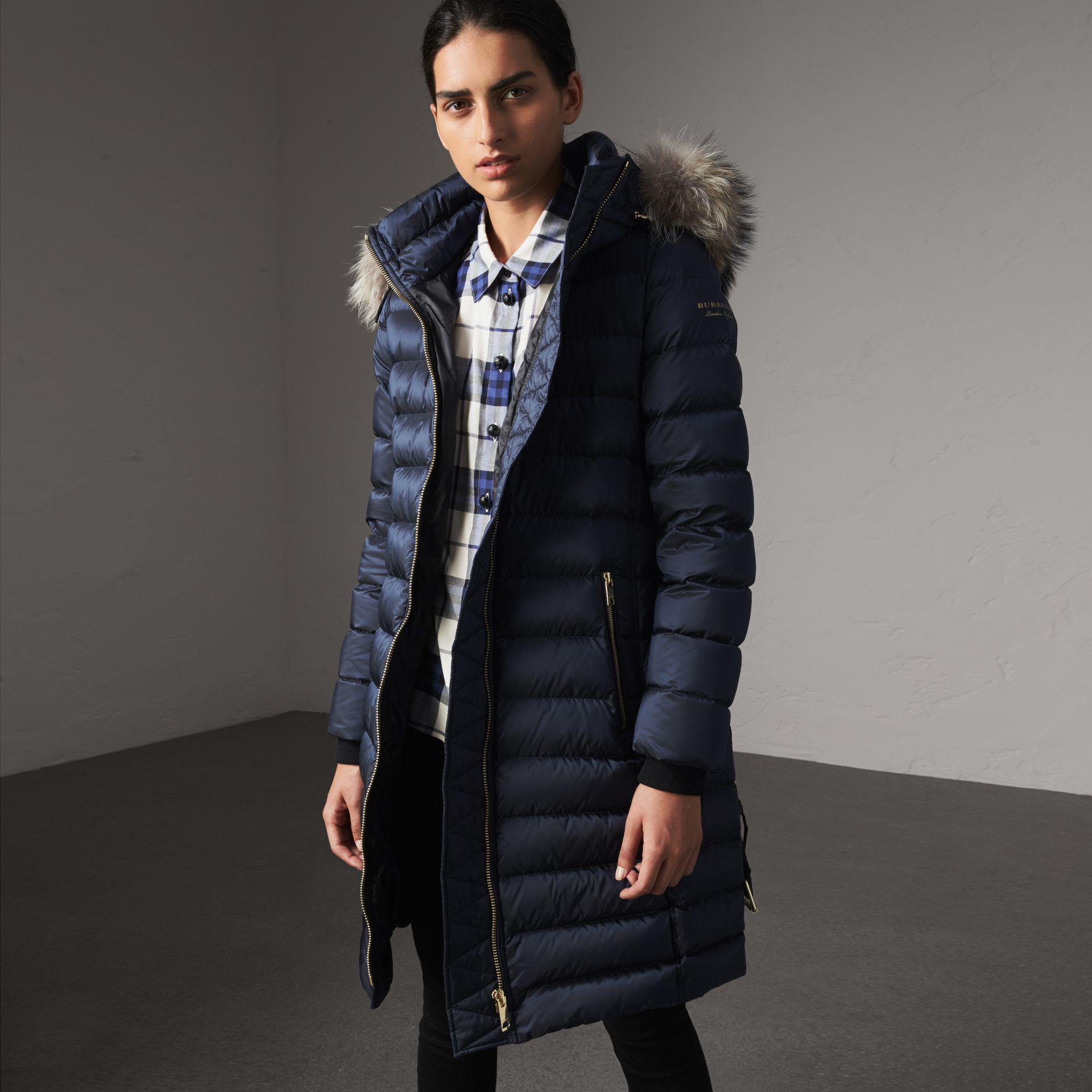 3c2cab349791 Burberry Detachable Fur Trim Down-filled Puffer Coat With Hood in ...