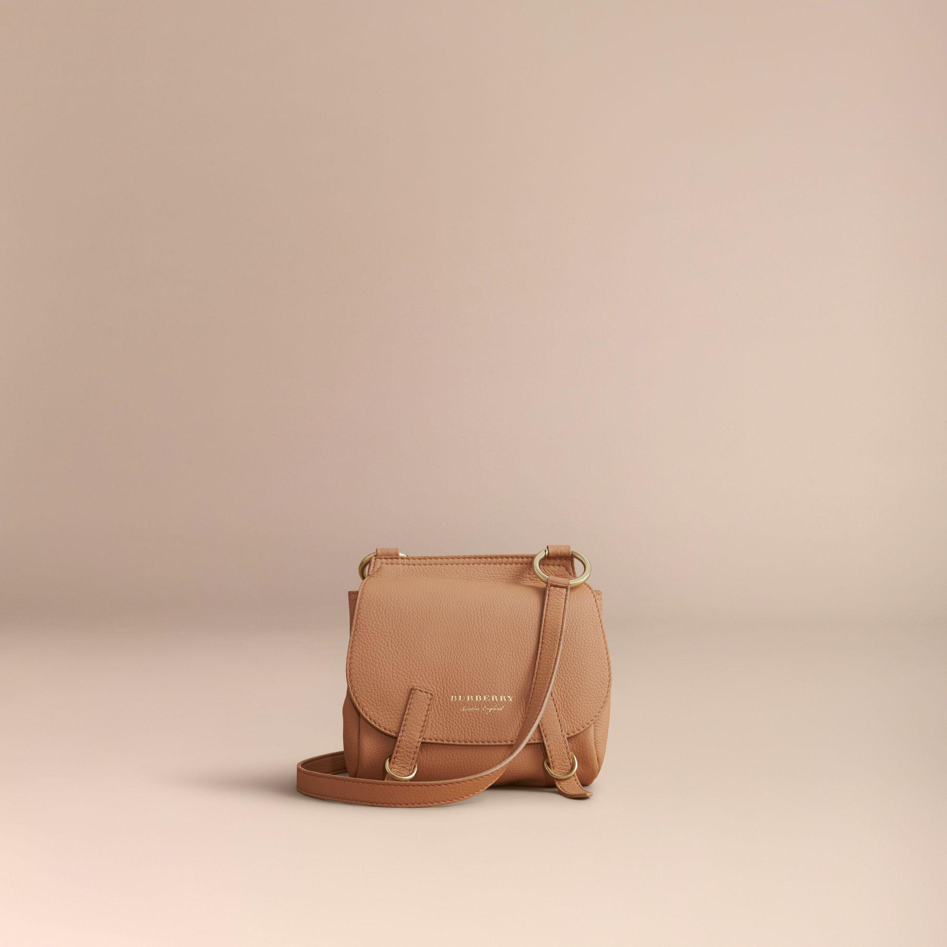 Burberry Leather The Bridle Crossbody Bag In Deerskin Pale Clementine in Brown