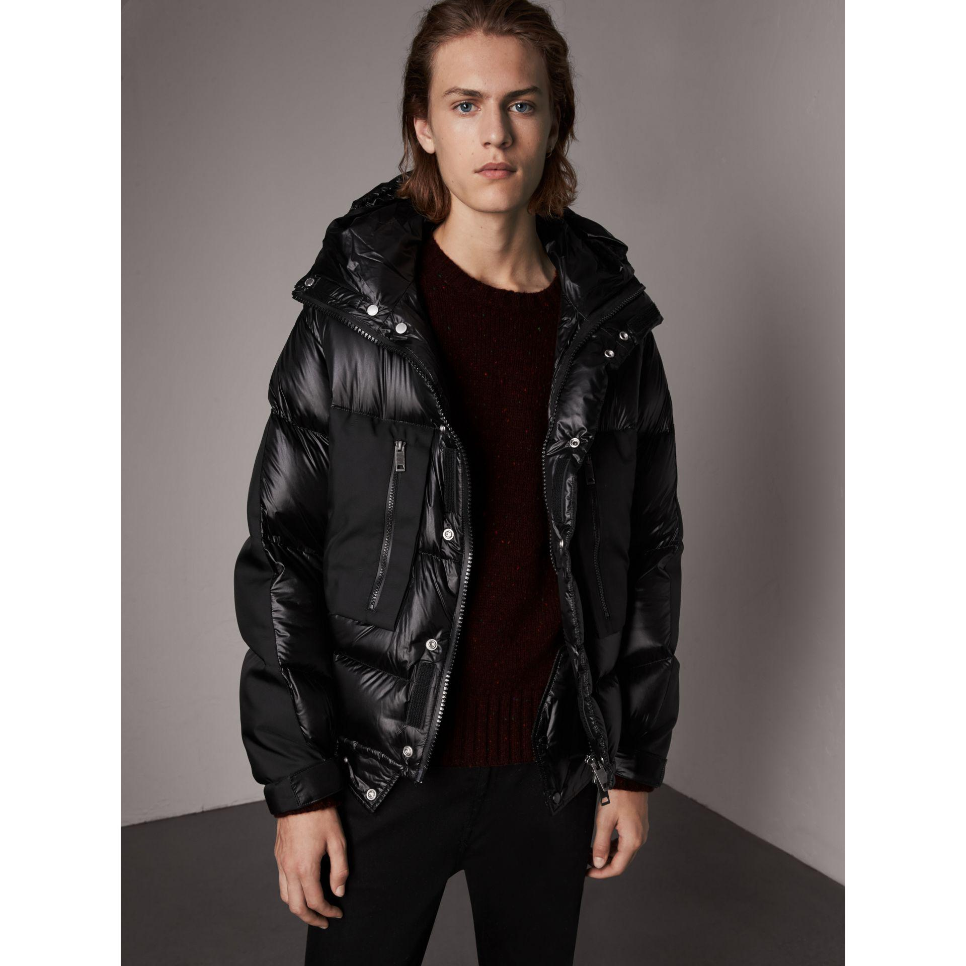 1ba4b864f Lyst - Burberry Oversized Down-filled Hooded Puffer Jacket in Black ...