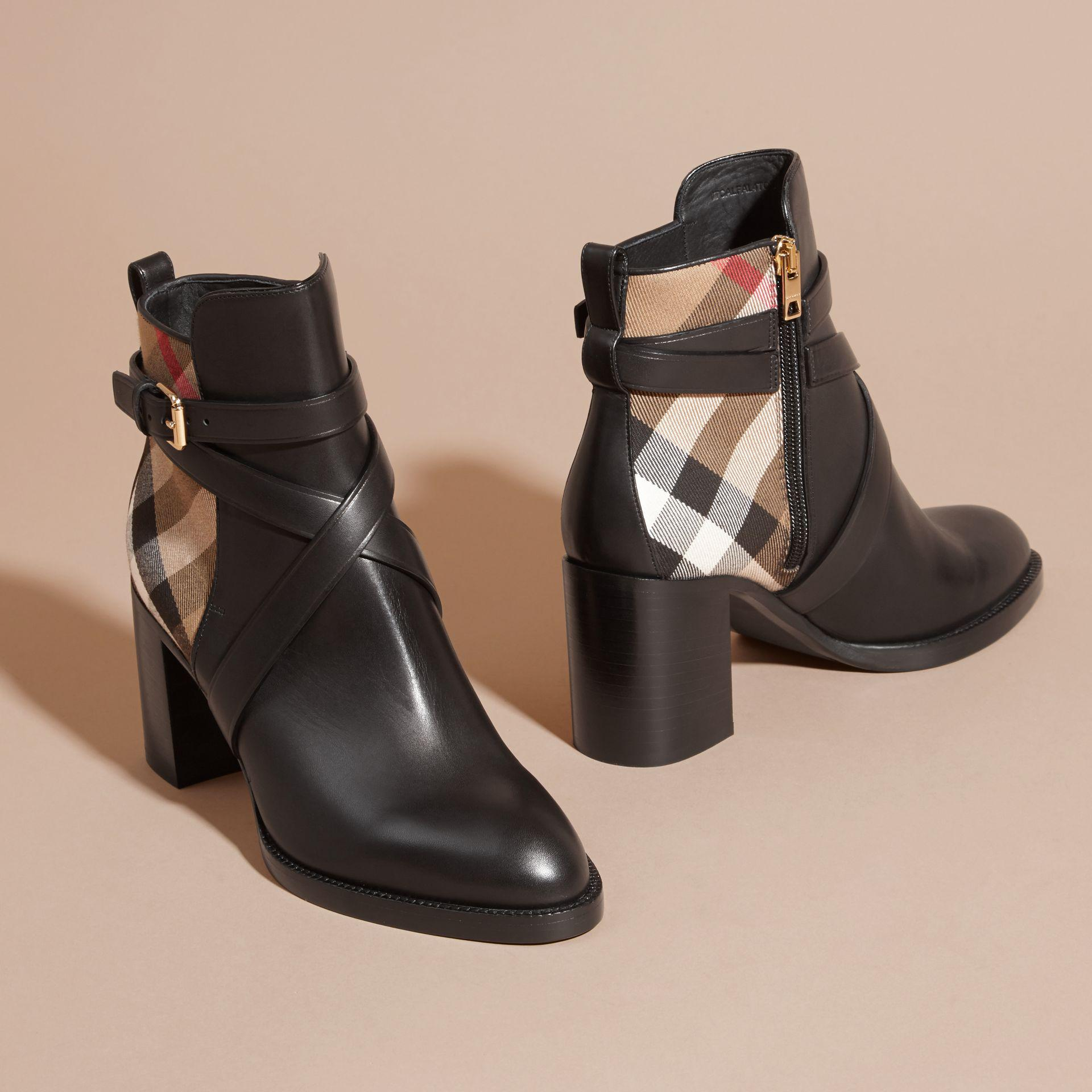 Burberry & Check Vaughan 70 Ankle Boots