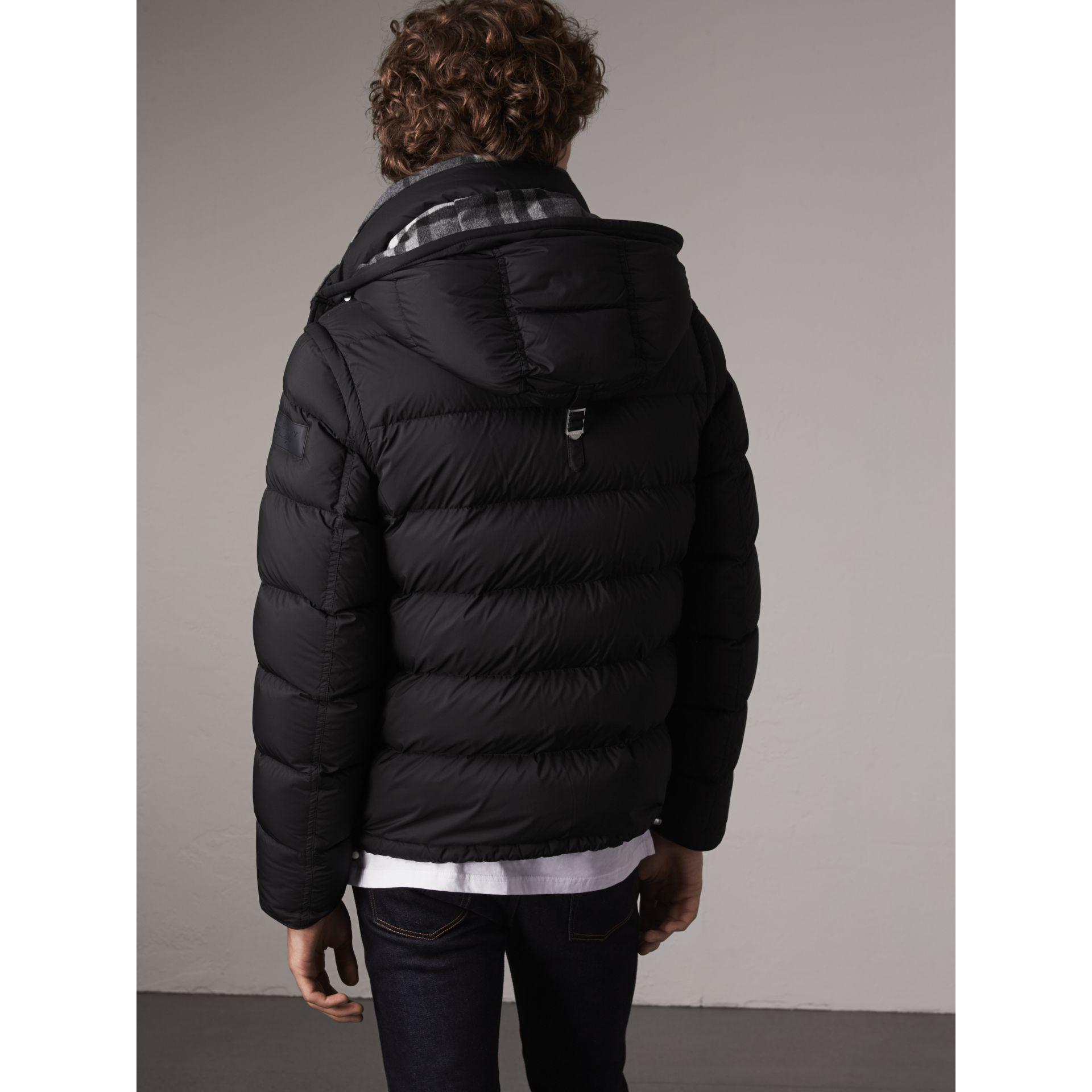 358ab309c00 Burberry Detachable-sleeve Down-filled Puffer Jacket in Black for ...
