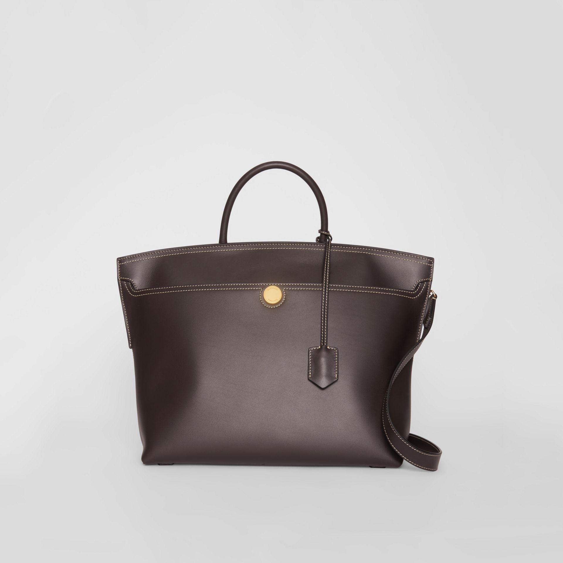 ca5abbd50a Lyst - Burberry Leather Society Top Handle Bag in Brown