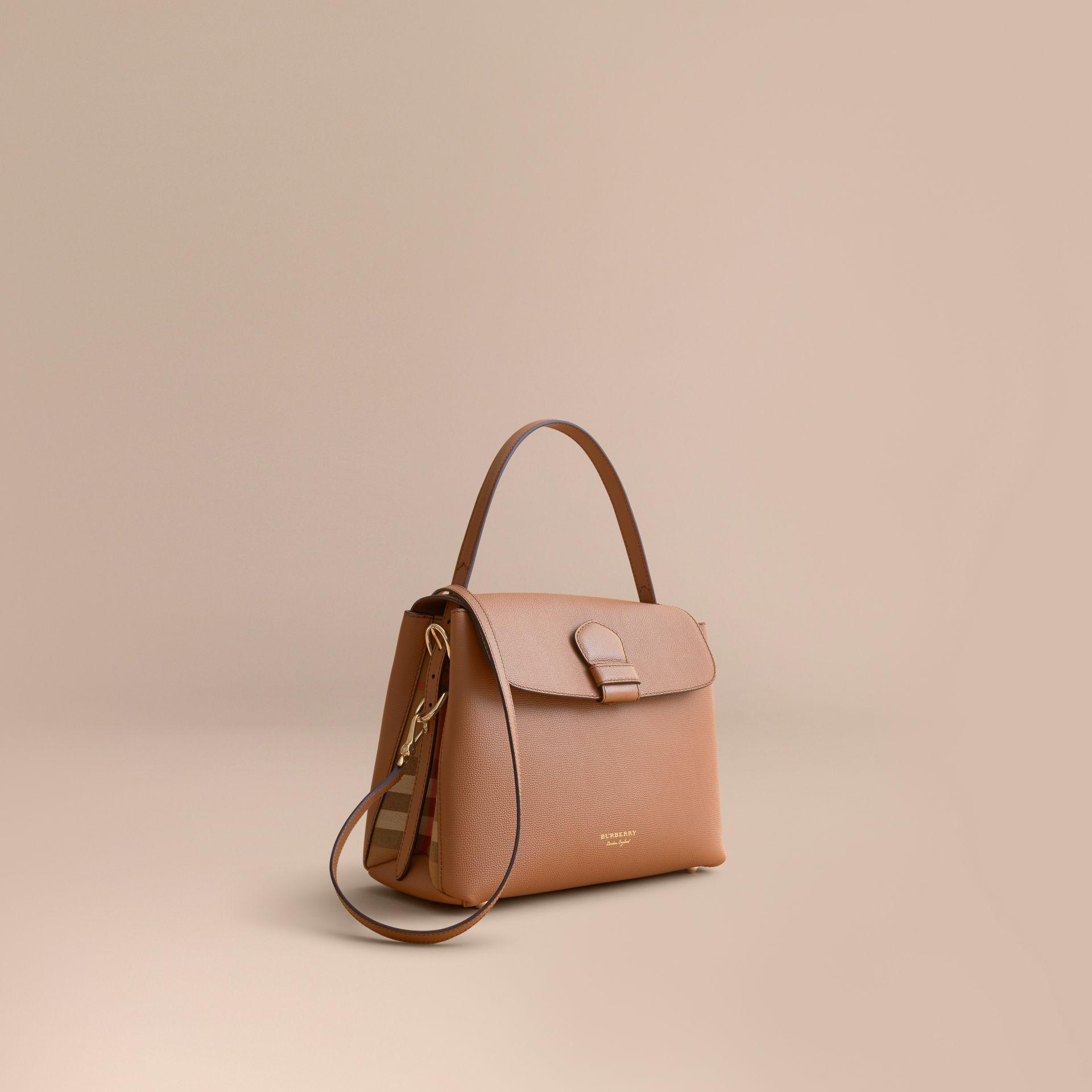 e6659a1b2235 Burberry - Multicolor Medium Grainy Leather And House Check Tote Bag -  Lyst. View fullscreen