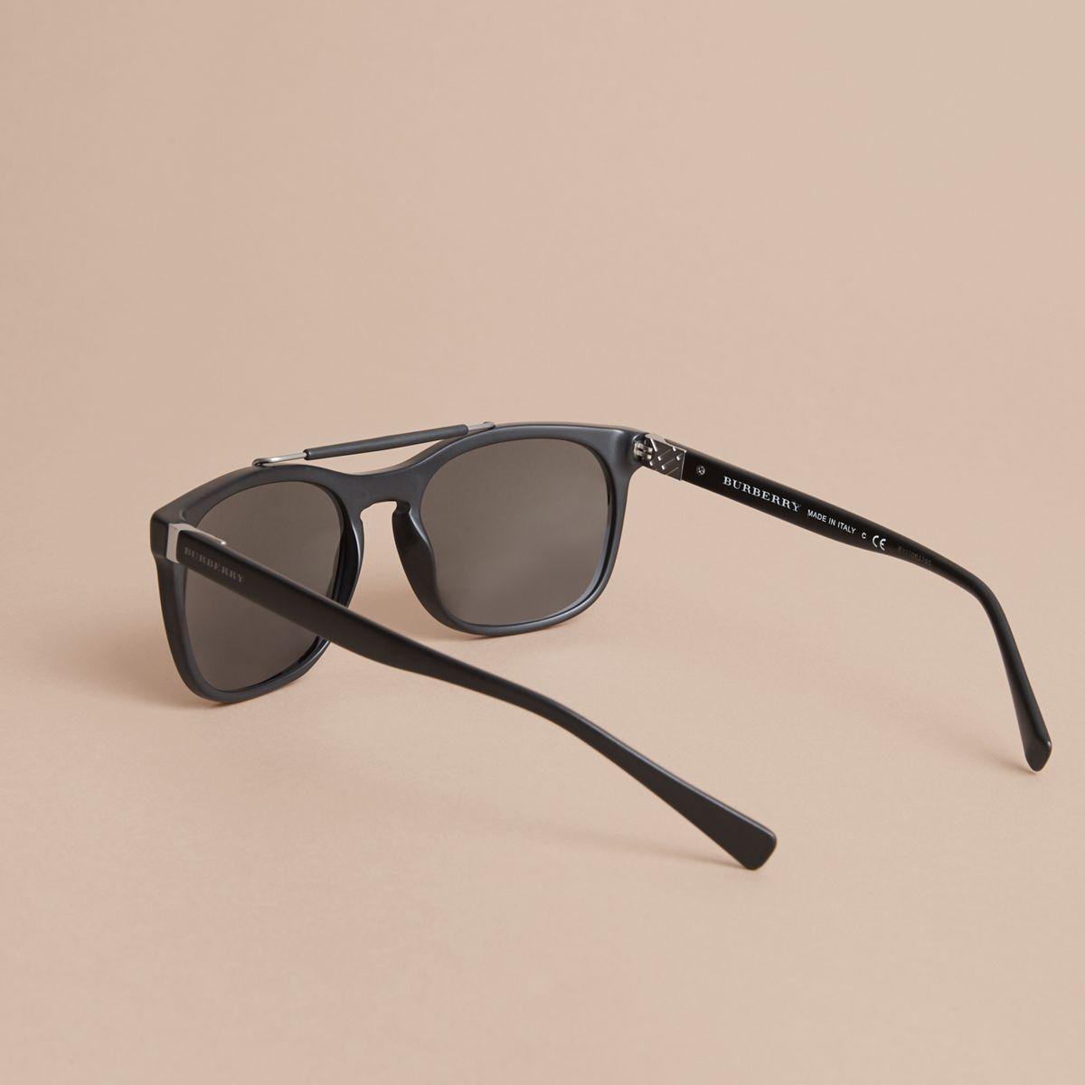 Burberry Top Bar Square Frame Sunglasses Black