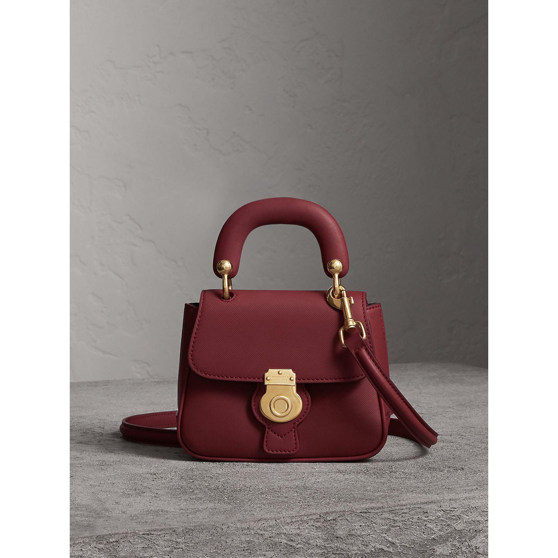 9255f0f8c51f Burberry The Mini Dk88 Top Handle Bag In Antique Red