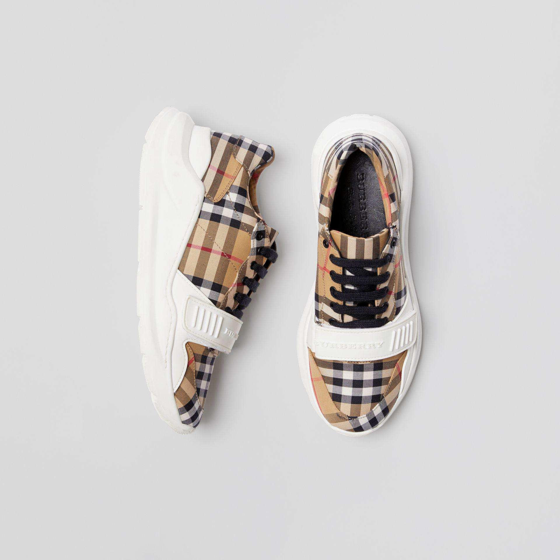 Burberry Cotton Regis Chunky Sneakers