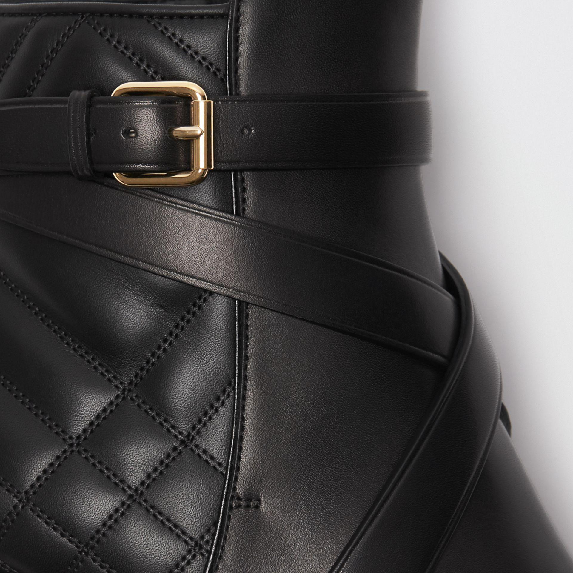 Burberry Strap Detail Quilted Leather