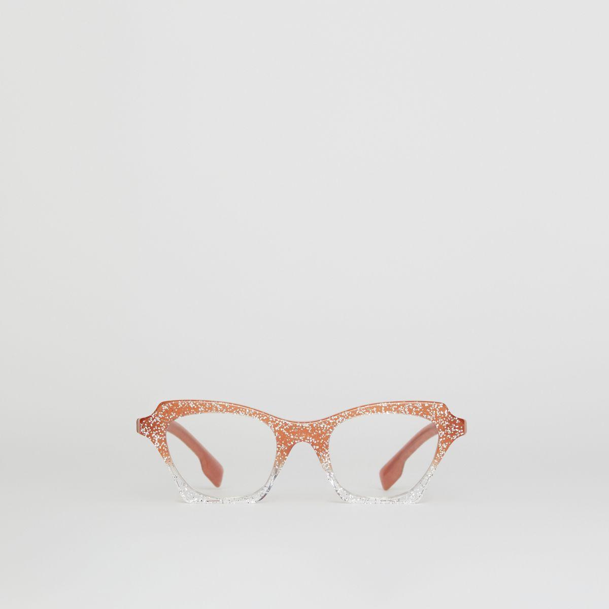984b7265bc5 Burberry Glitter Detail Butterfly Optical Frames - Lyst