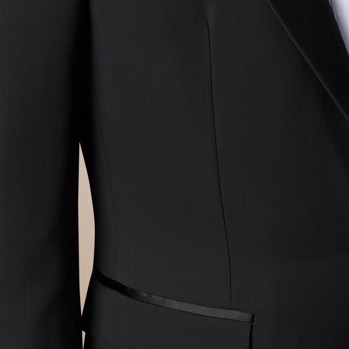 Burberry Satin Lapel Tuxedo Jacket in Black for Men