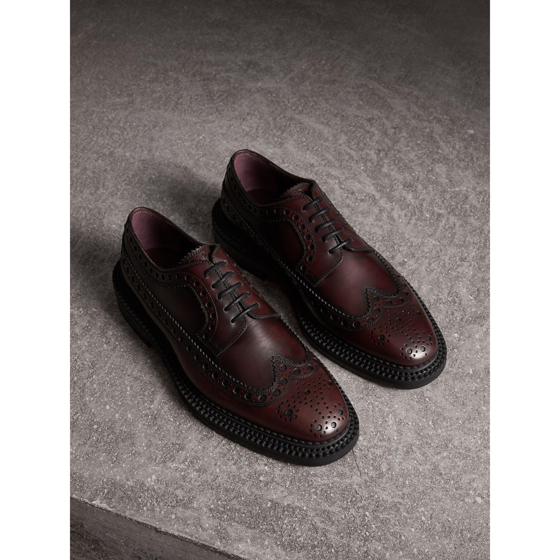 Burberry Leather Derby Brogues For Men Lyst