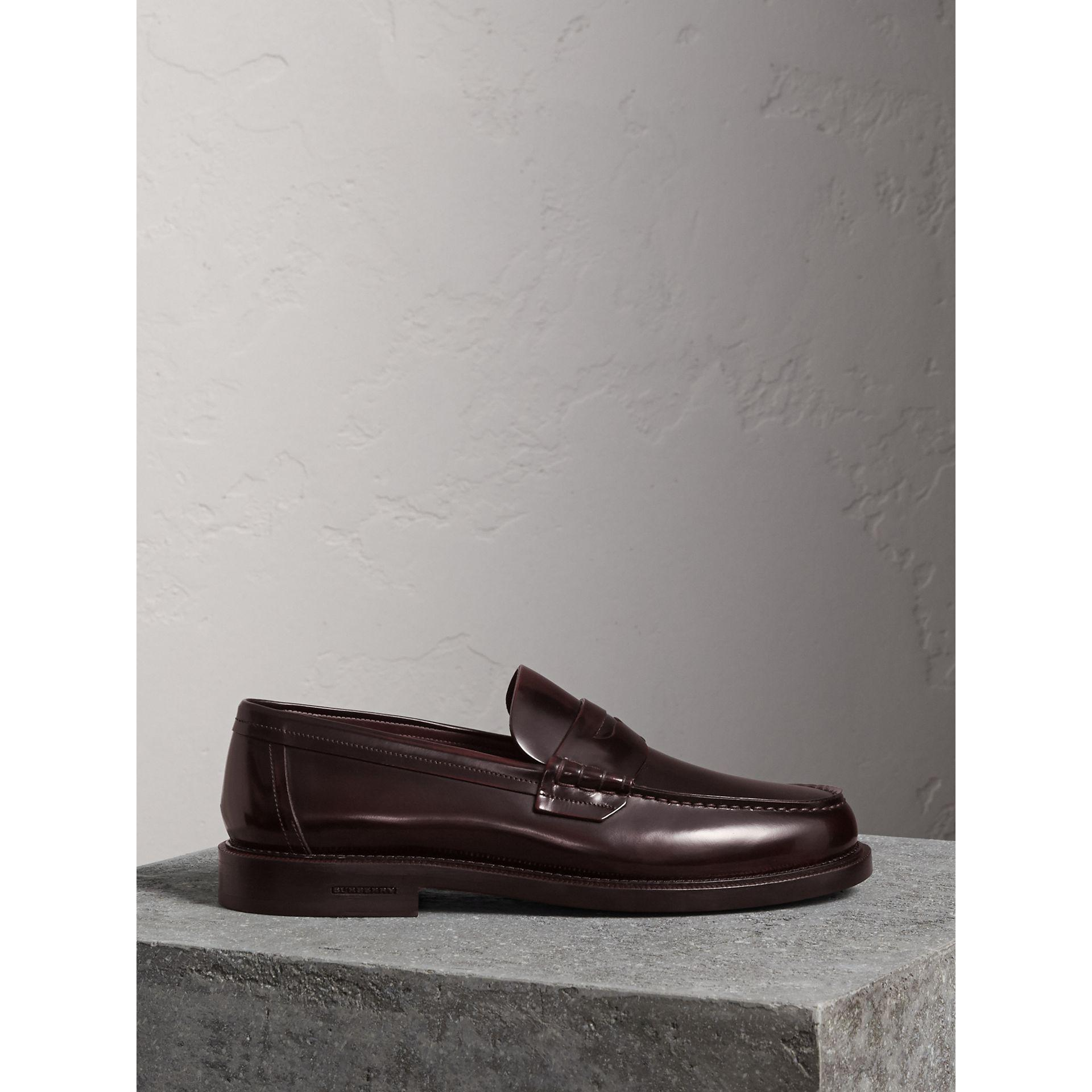 f4e2e0693b6 Lyst - Burberry Leather Penny Loafers for Men