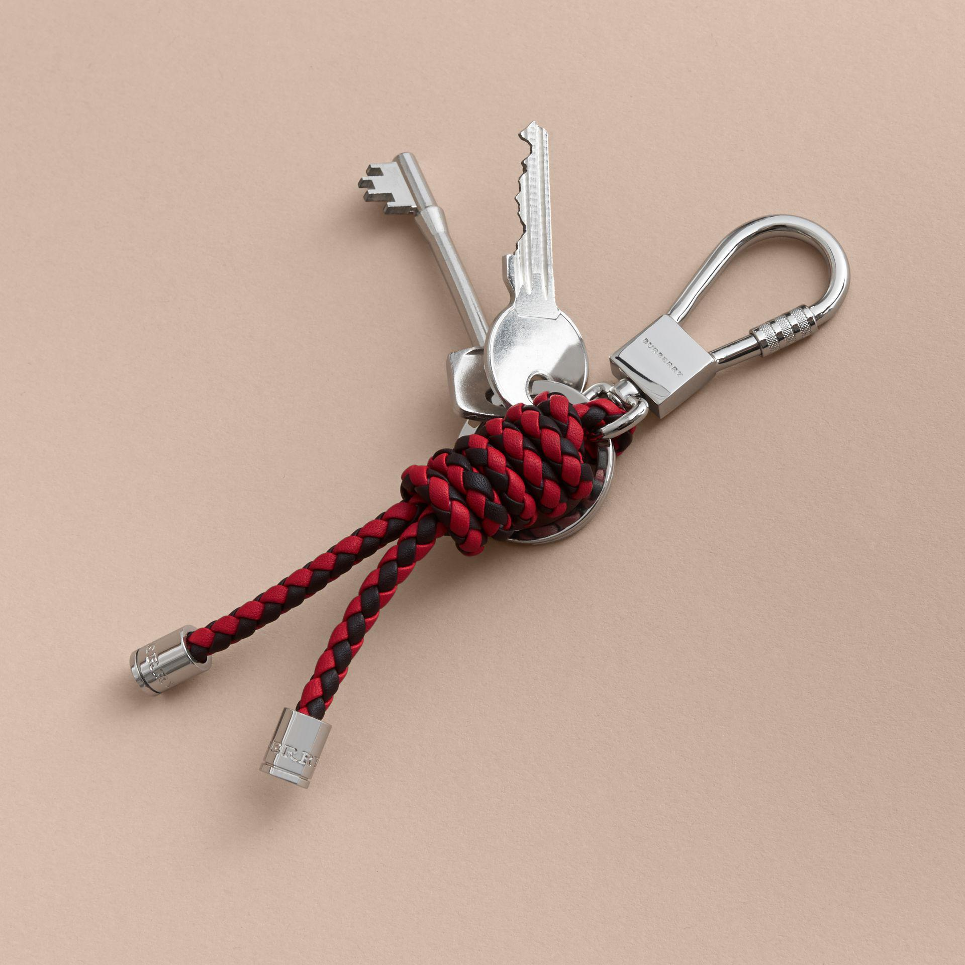 Burberry Braided Leather Knot Key Ring Lyst