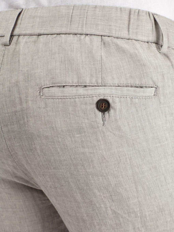 Burton Grey Slim Fit Linen Trousers in Grey for Men