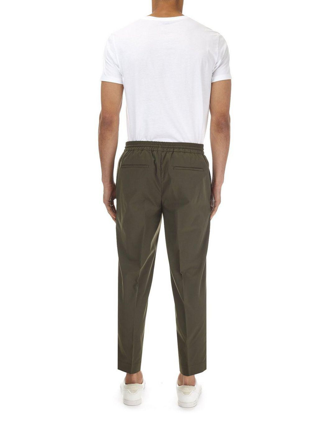Burton Synthetic Khaki Lightweight Tapered Fit Trousers With Stretch in Natural for Men