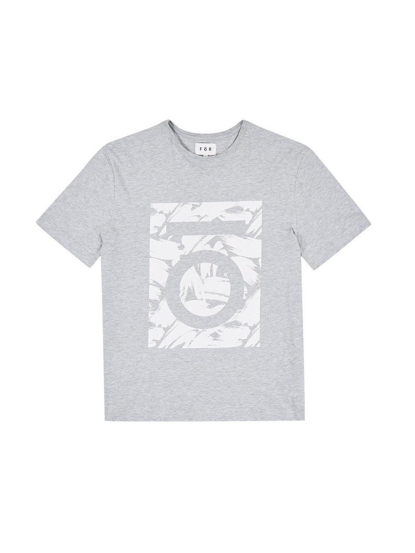 8e044d73 Burton Fōr Grey Paint Block Logo T-shirt in Gray for Men - Save ...