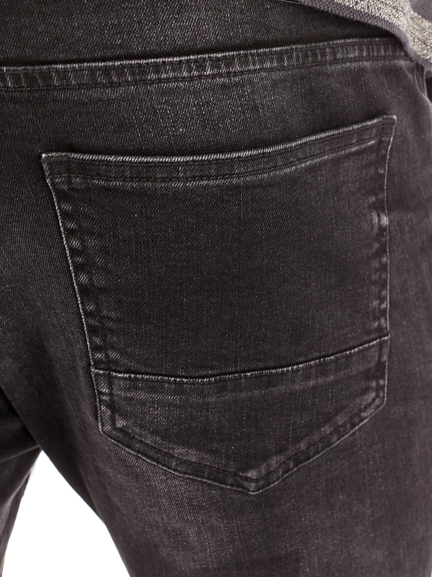 Burton Denim Used Black Tyler Skinny Fit Jeans for Men