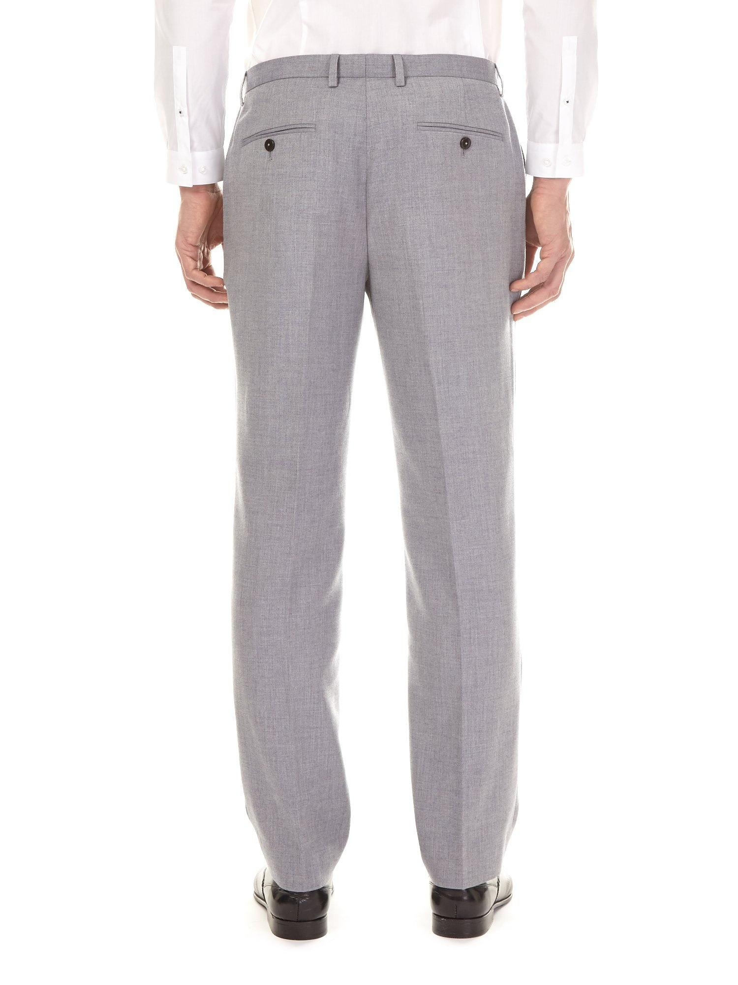 Burton Synthetic Grey Essential Textured Tailored Fit Suit Trousers in Grey for Men