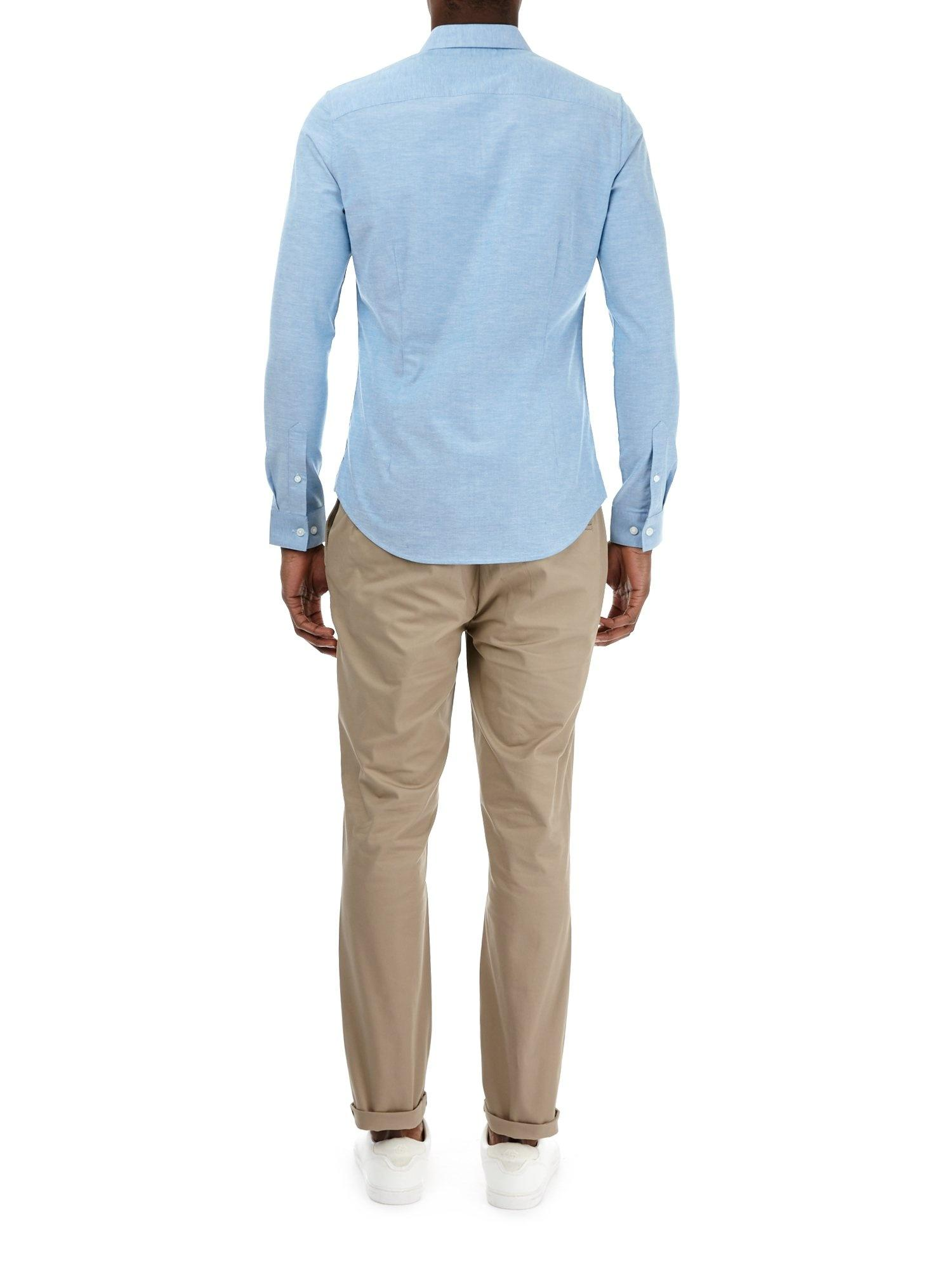 Burton Cotton Stone Blake Smart Slim Fit Stretch Chinos in Natural for Men