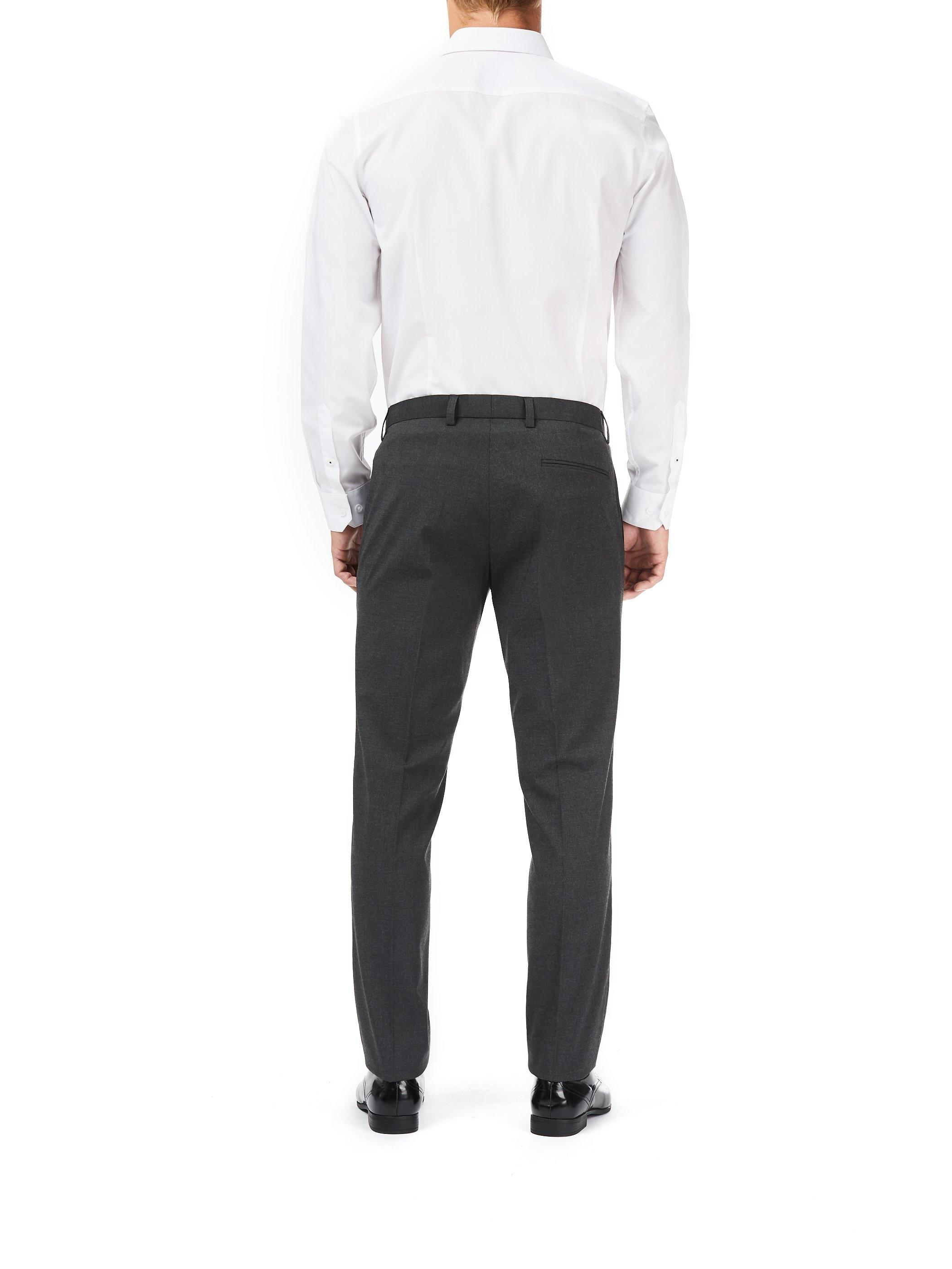 Burton Synthetic Charcoal Slim Fit Stretch Trousers in Grey for Men
