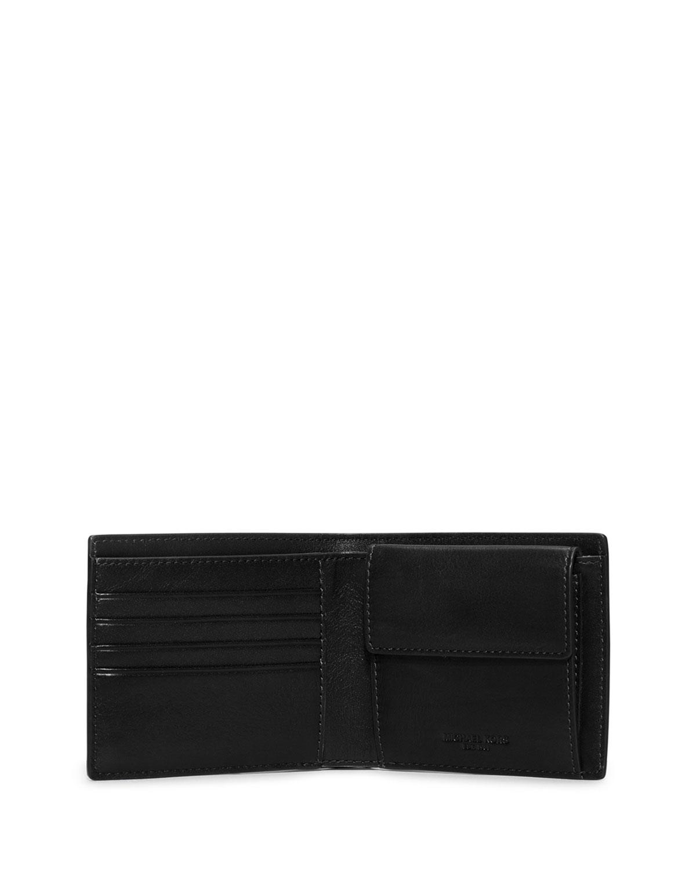 14d4cc7027b8f Lyst - Michael Kors Bryant Croc-embossed Bifold Wallet in Black for Men