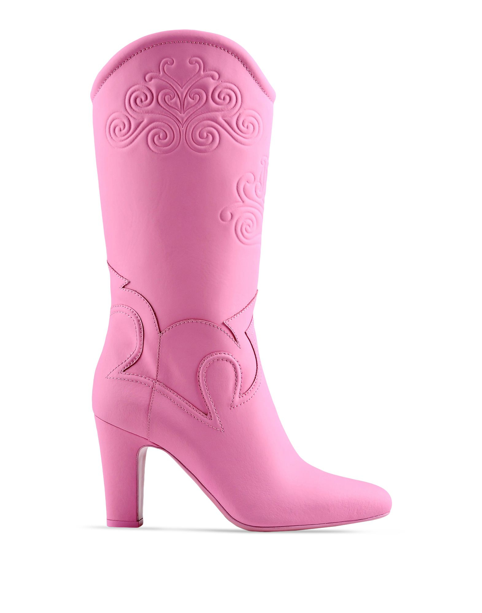 Moschino High-Heeled Boots in Pink