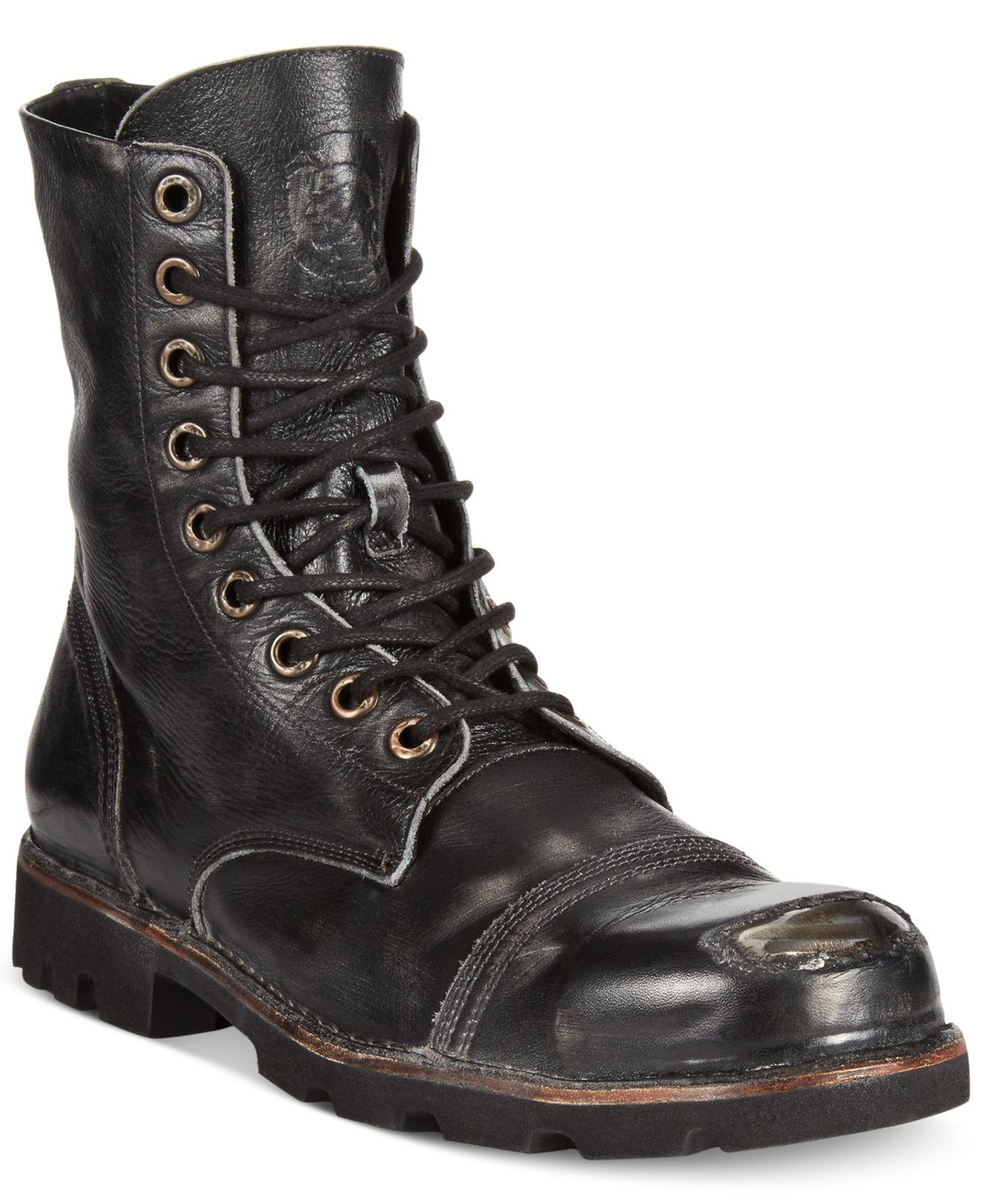 Lyst - Diesel Hardkor Steel Toe Boots in Black for Men