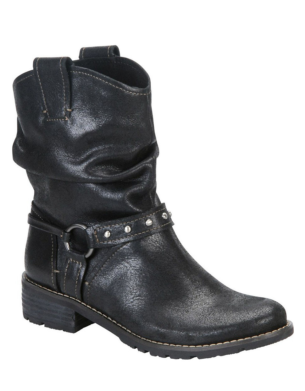 s 246 fft adan leather slouchy ankle boots in black lyst