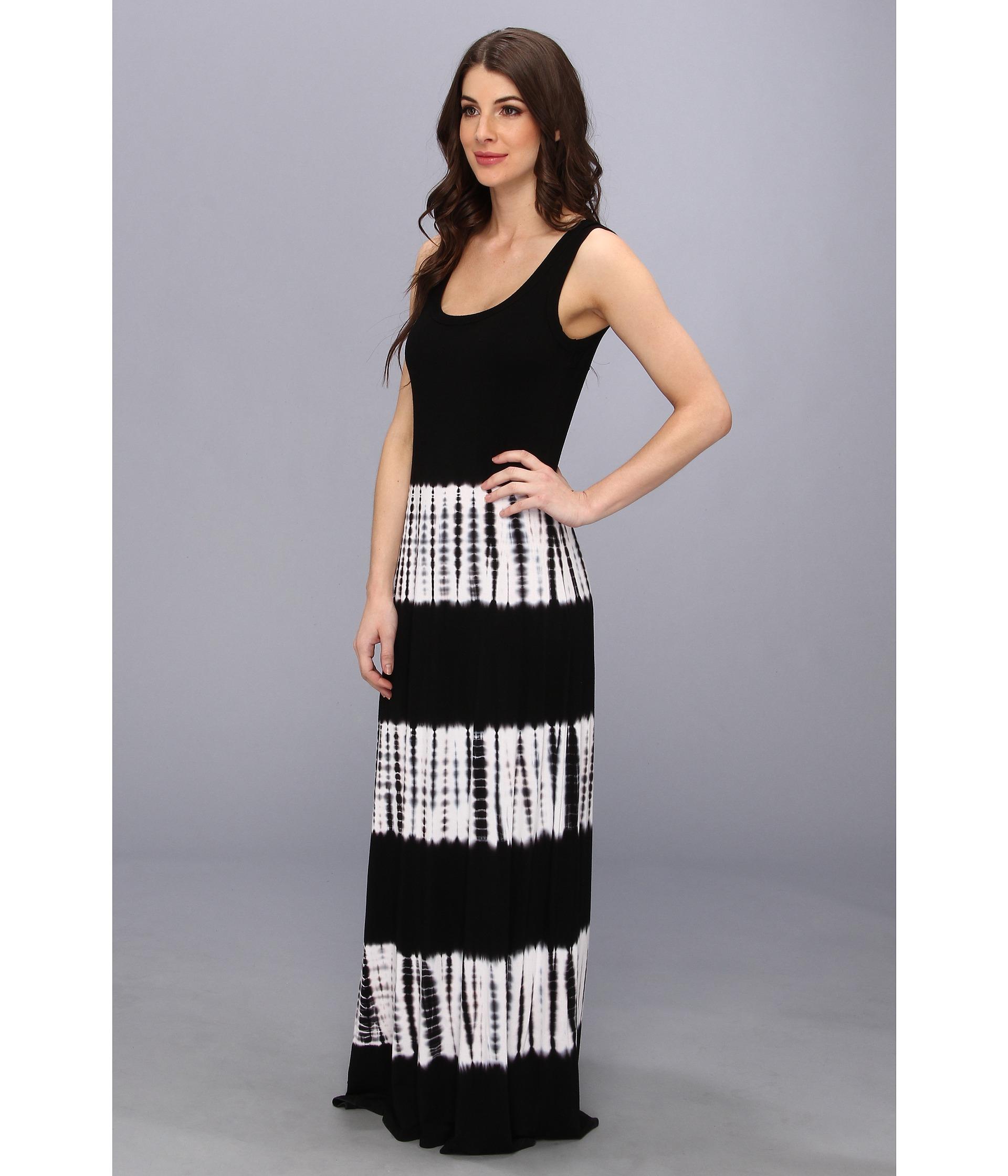 Lyst Karen Kane Tie Dye Maxi Tank Dress In Black