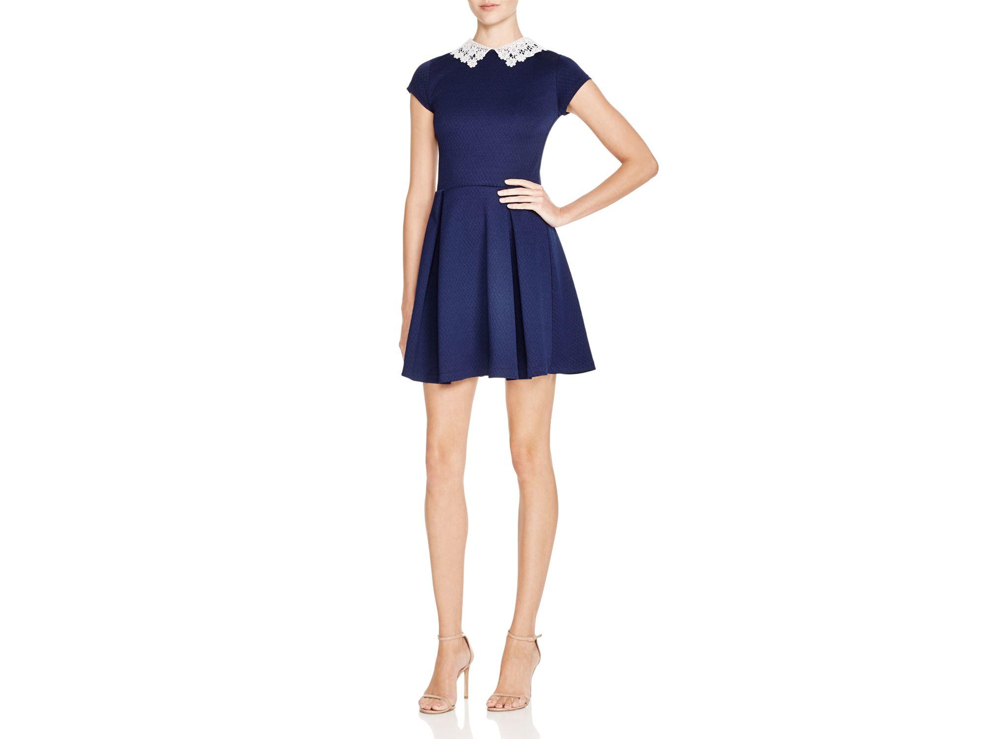 2019 year looks- Blue aqua lace dress