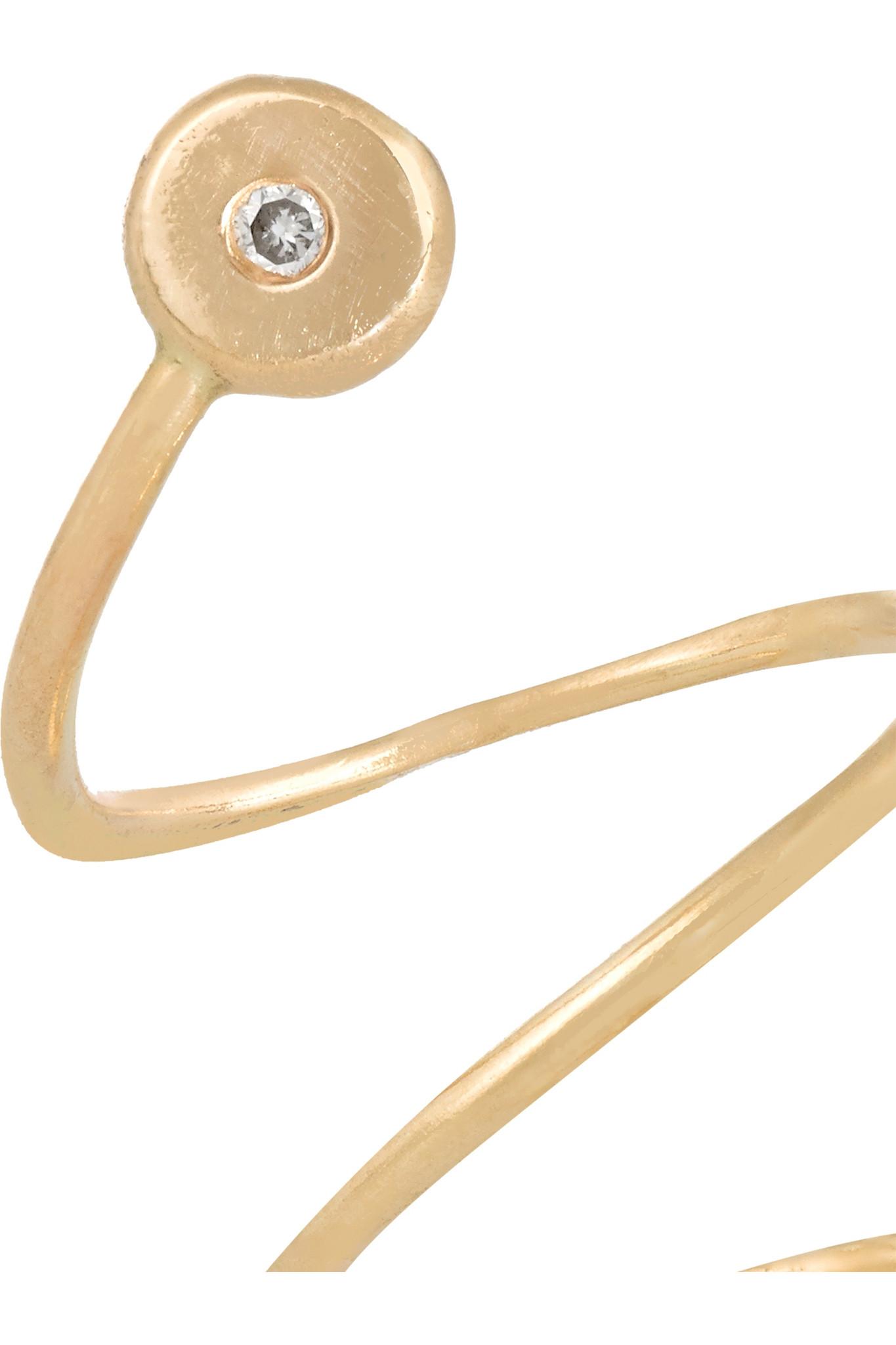 Melissa Joy Manning 14-karat Gold Diamond Earring in Metallic