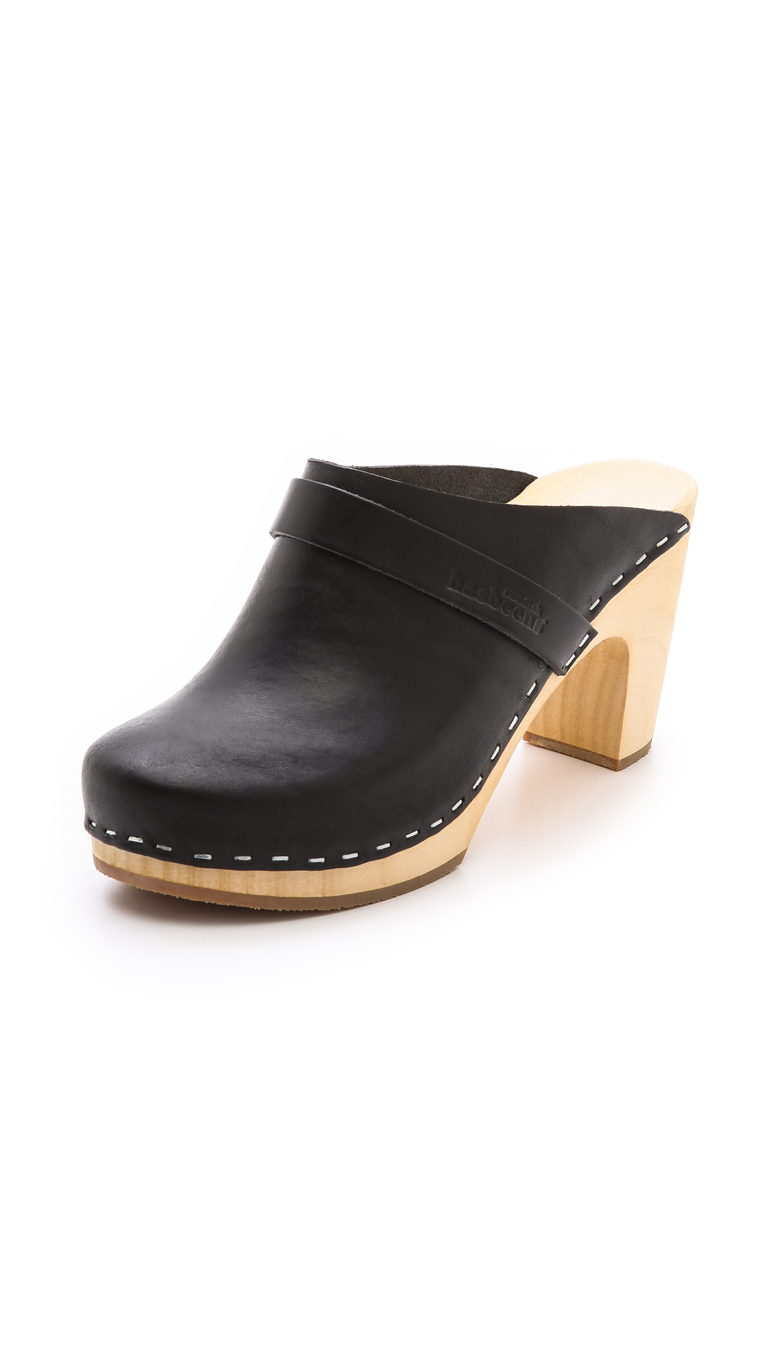 Lyst Swedish Hasbeens Slip On Classic Clogs In Black