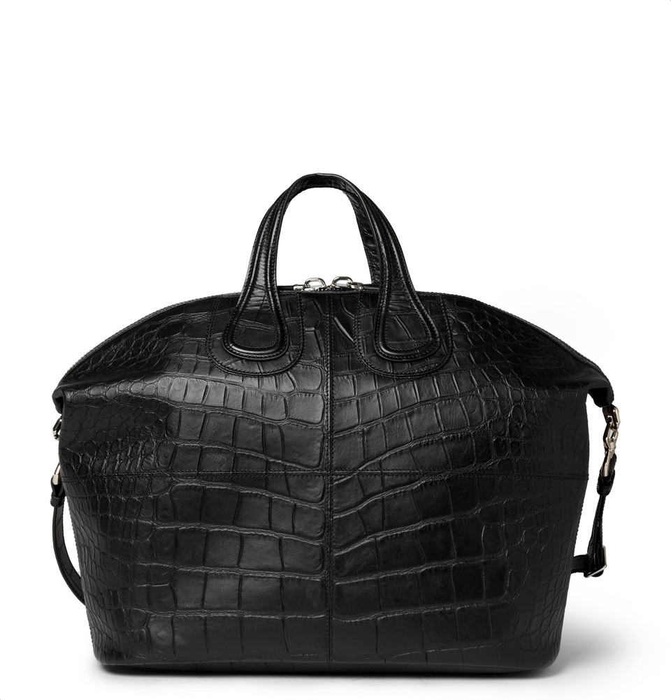Lyst - Givenchy Crocodile-Embossed Leather Nightingale Tote Bag in ... de138e24f2890