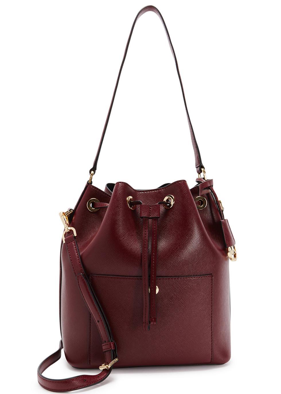 Lyst Michael Kors Greenwich Large Burgundy Leather