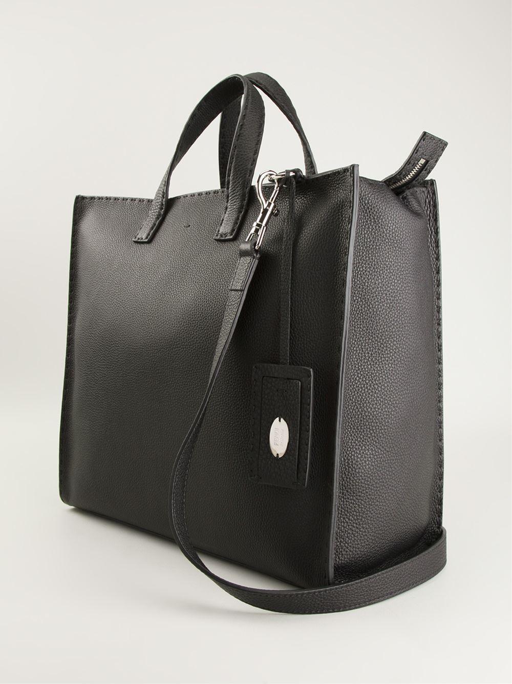 d341dbe5040f Lyst - Fendi Selleria Tote in Black for Men