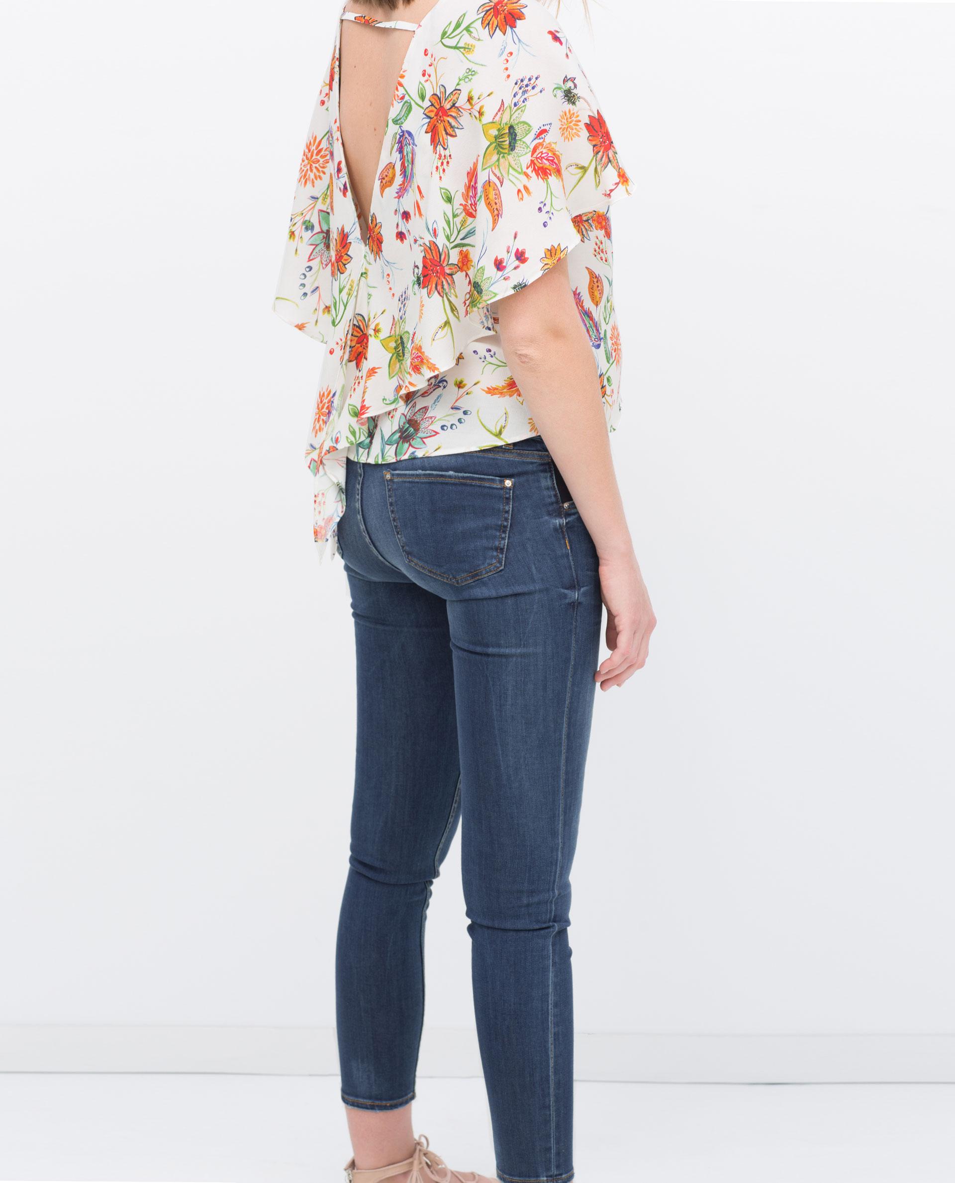 Zara Skinny Maternity Jeans in Blue