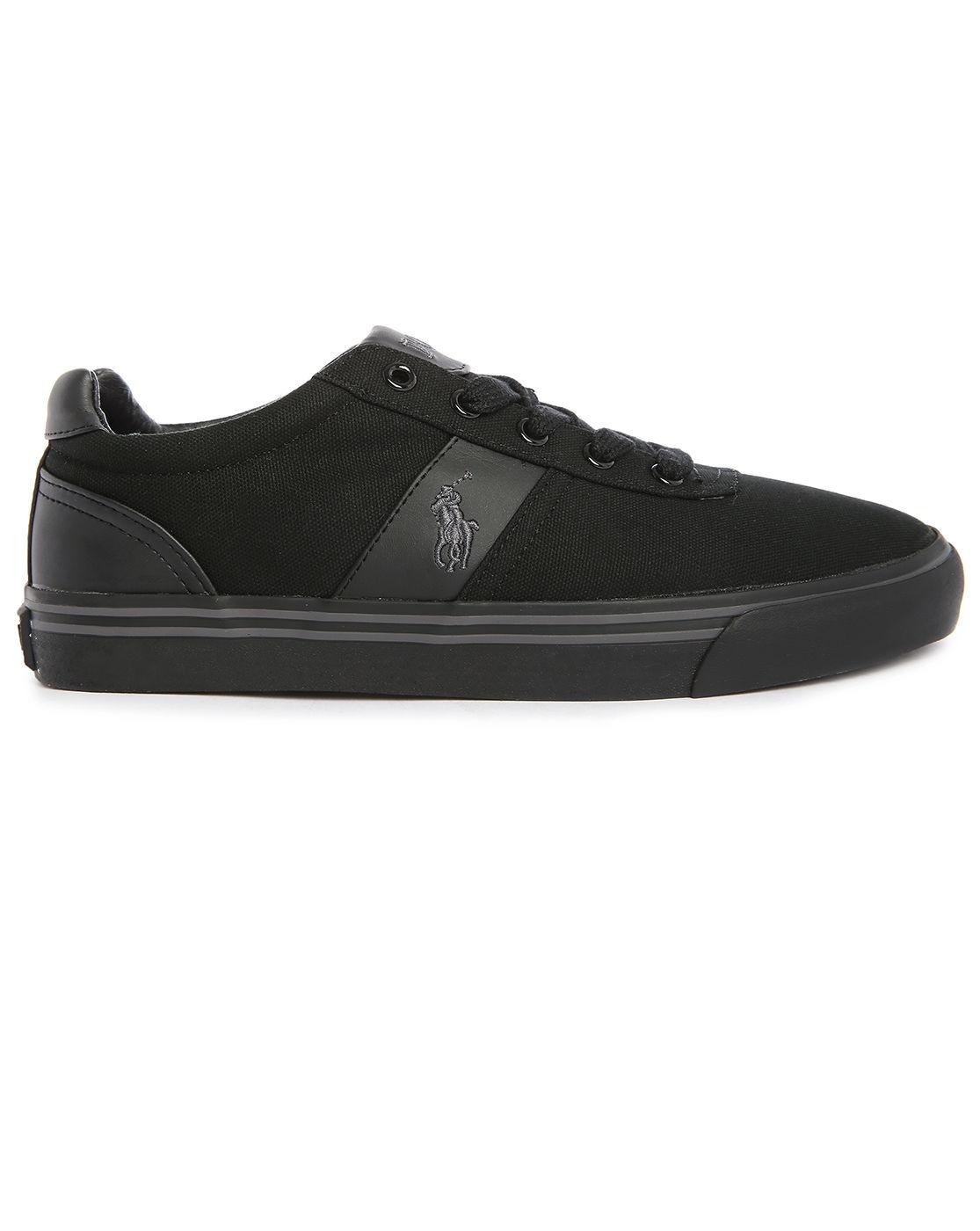 Black Ralph Lauren Canvas Shoes