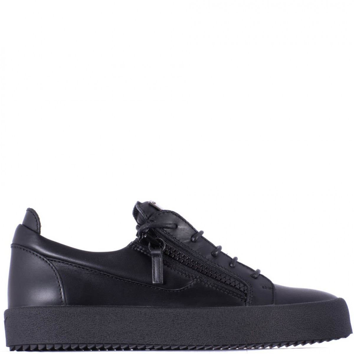 Giuseppe zanotti Black Leather Low Sneakers in Black for ...