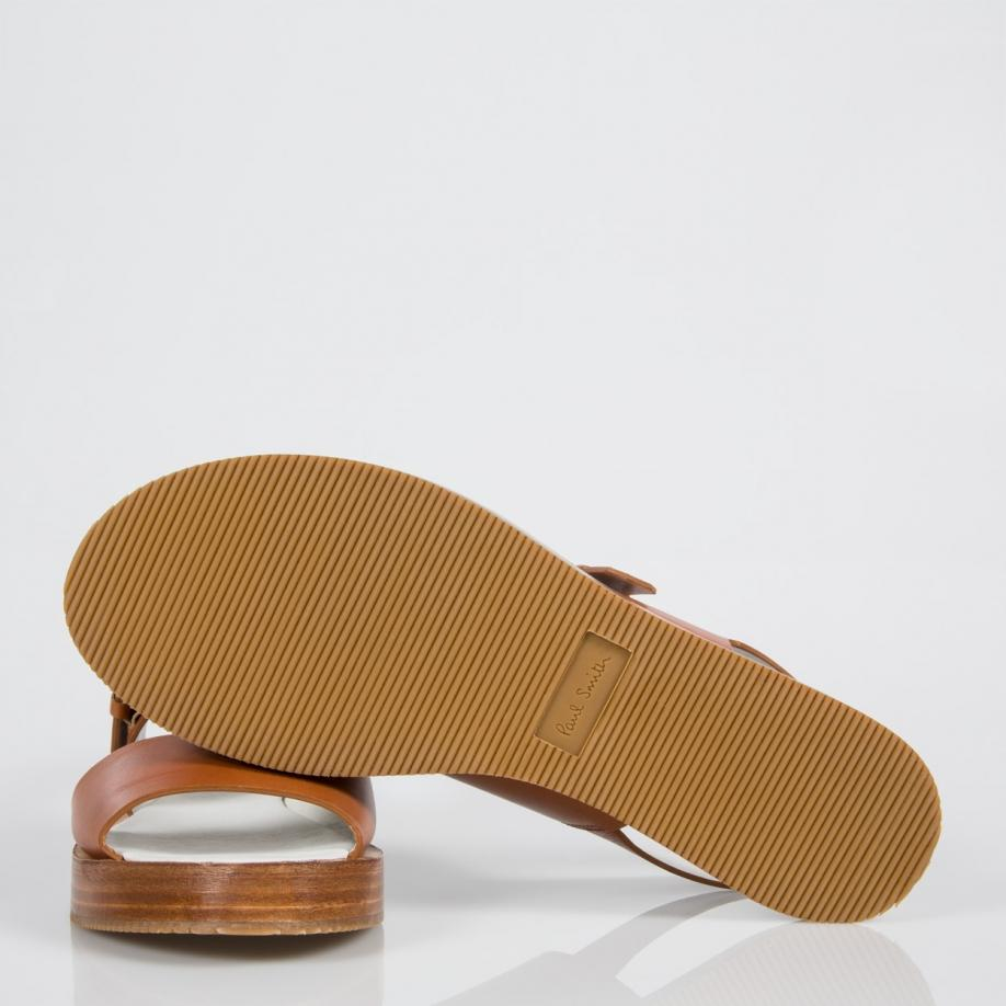04e604a61ccd16 Lyst - Paul Smith Women s Tan Leather  ilse  Platform Sandals in Brown