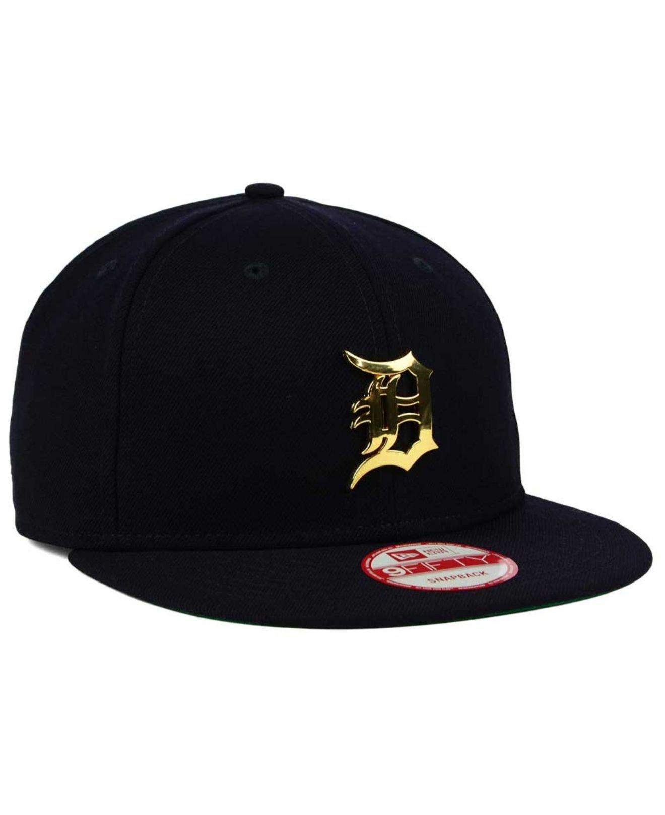 watch 22c97 194ea KTZ Detroit Tigers League O gold 9fifty Snapback Cap in Blue for Men ...