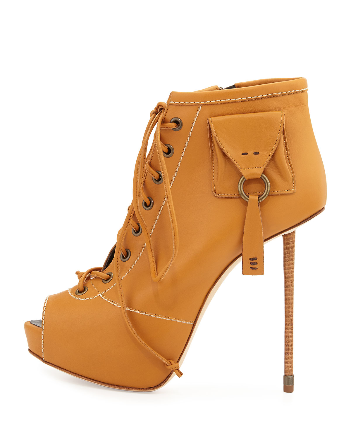 Shoe Lace Brown Booties